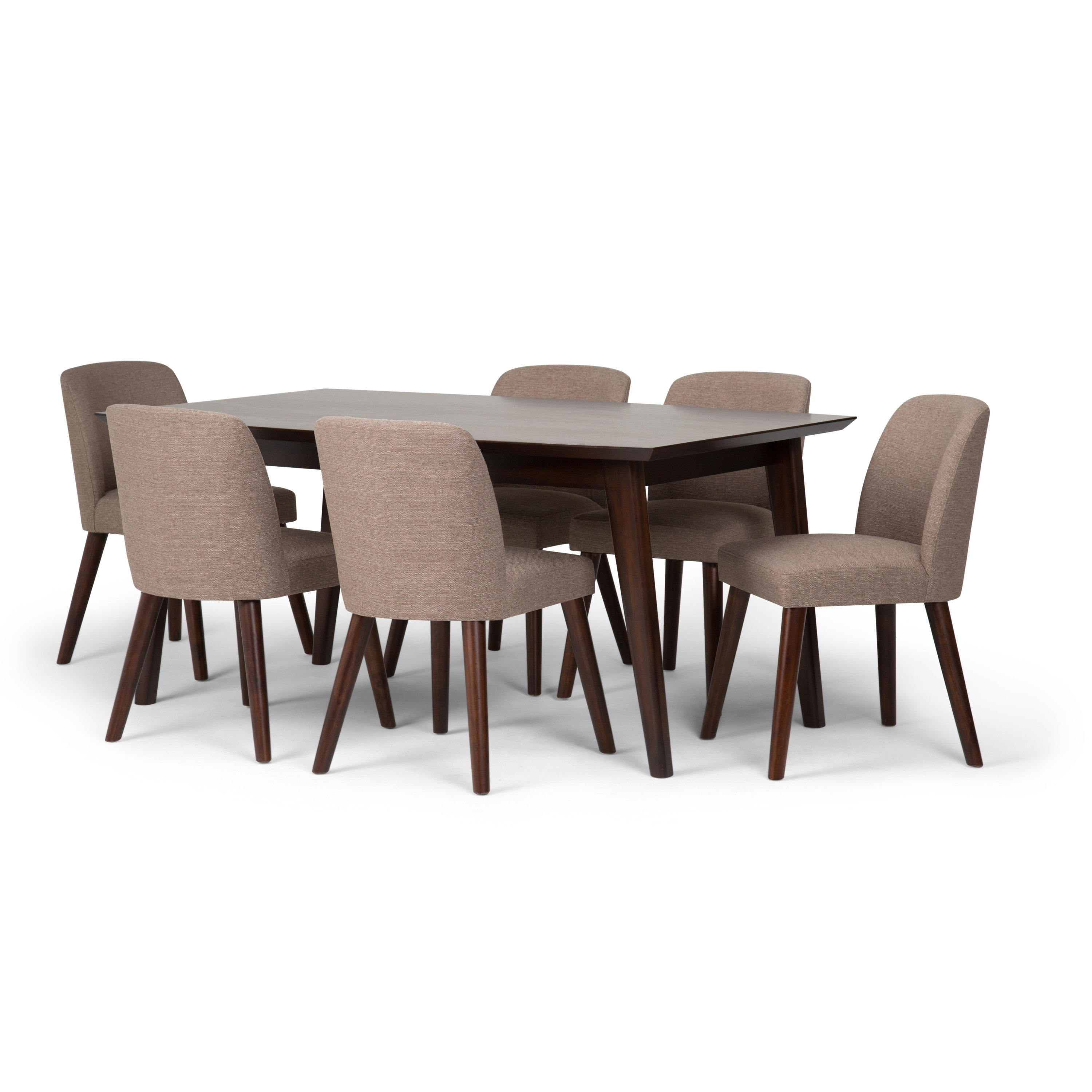 Walden 7 Piece Extension Dining Sets Pertaining To Most Up To Date Simpli Home Emery 7 Piece Solid Wood Dining Set (View 14 of 25)