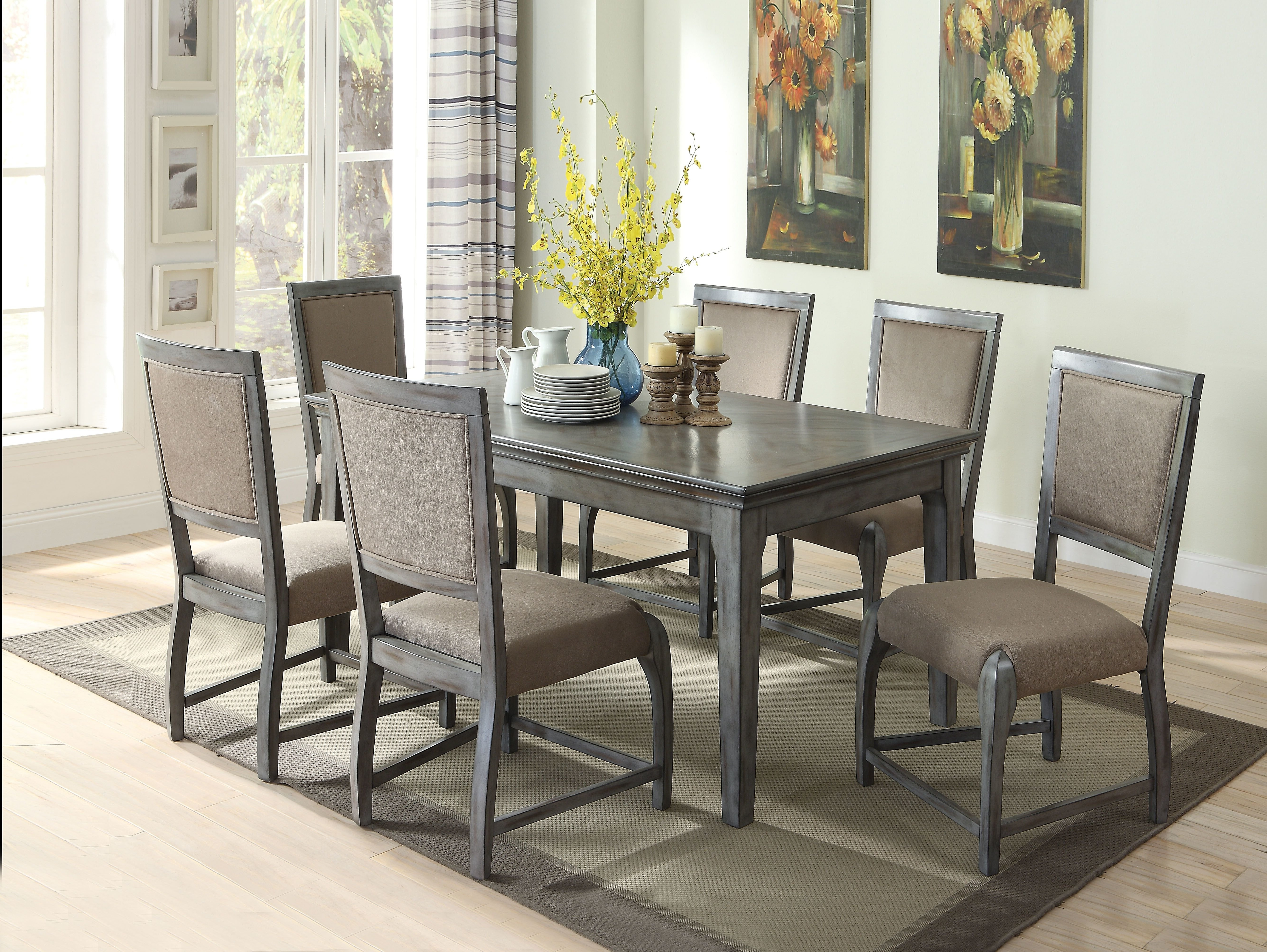 Walden 7 Piece Extension Dining Sets With Trendy Gracie Oaks Vincenza 7 Piece Dining Set (View 22 of 25)