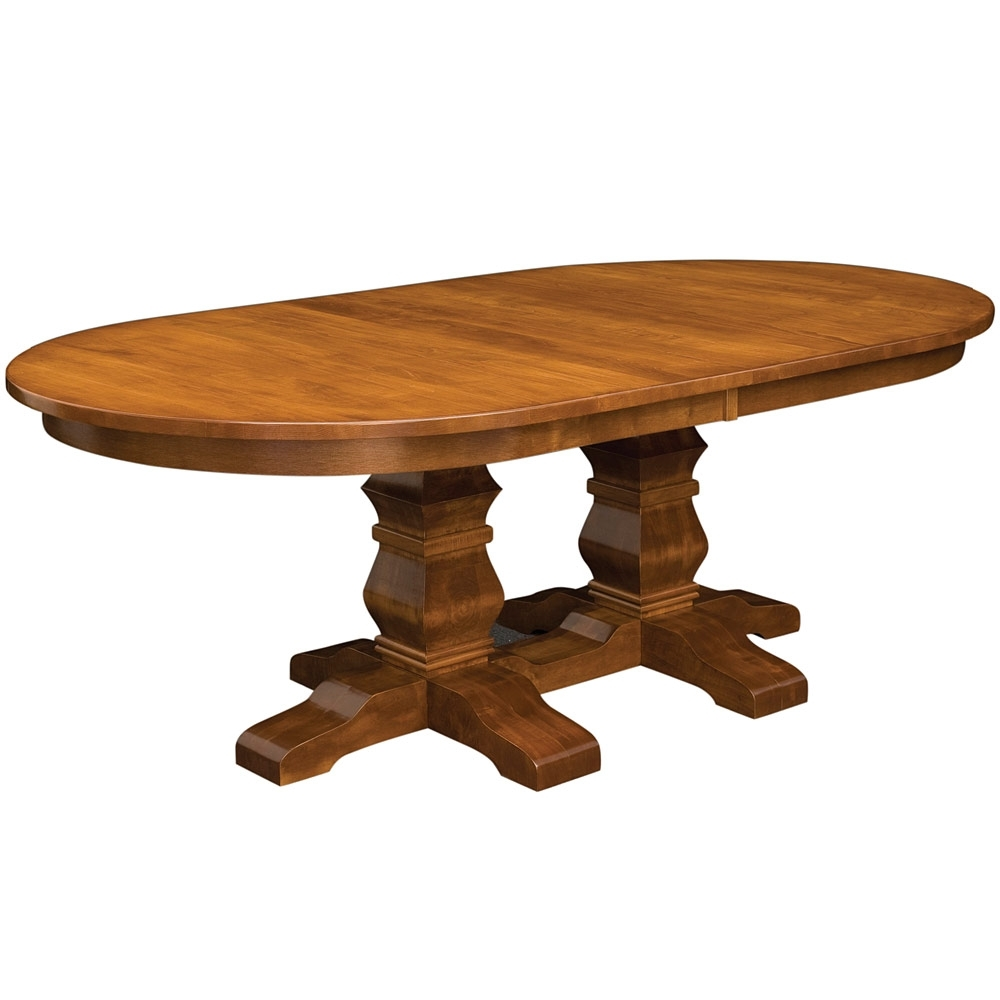 Walden Double Pedestal Amish Dining Table  Amish Tables (View 19 of 25)