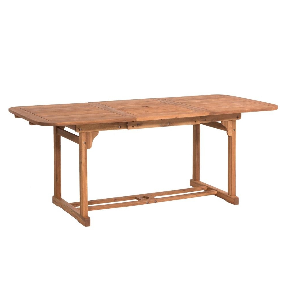 Walker Edison Furniture Company Boardwalk Brown Acacia Wood With Regard To Preferred Acacia Dining Tables (View 21 of 25)