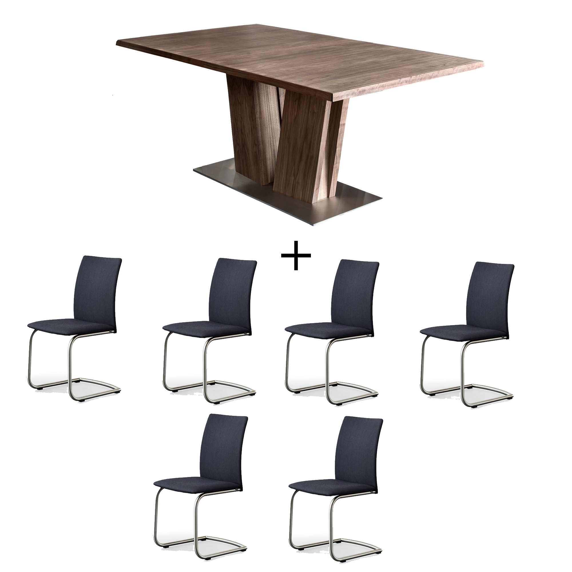Walnut Dining Table And 6 Chairs For Famous Skovby Walnut Dining Table And 6 Chairs – Dining Sets – Cookes Furniture (View 25 of 25)