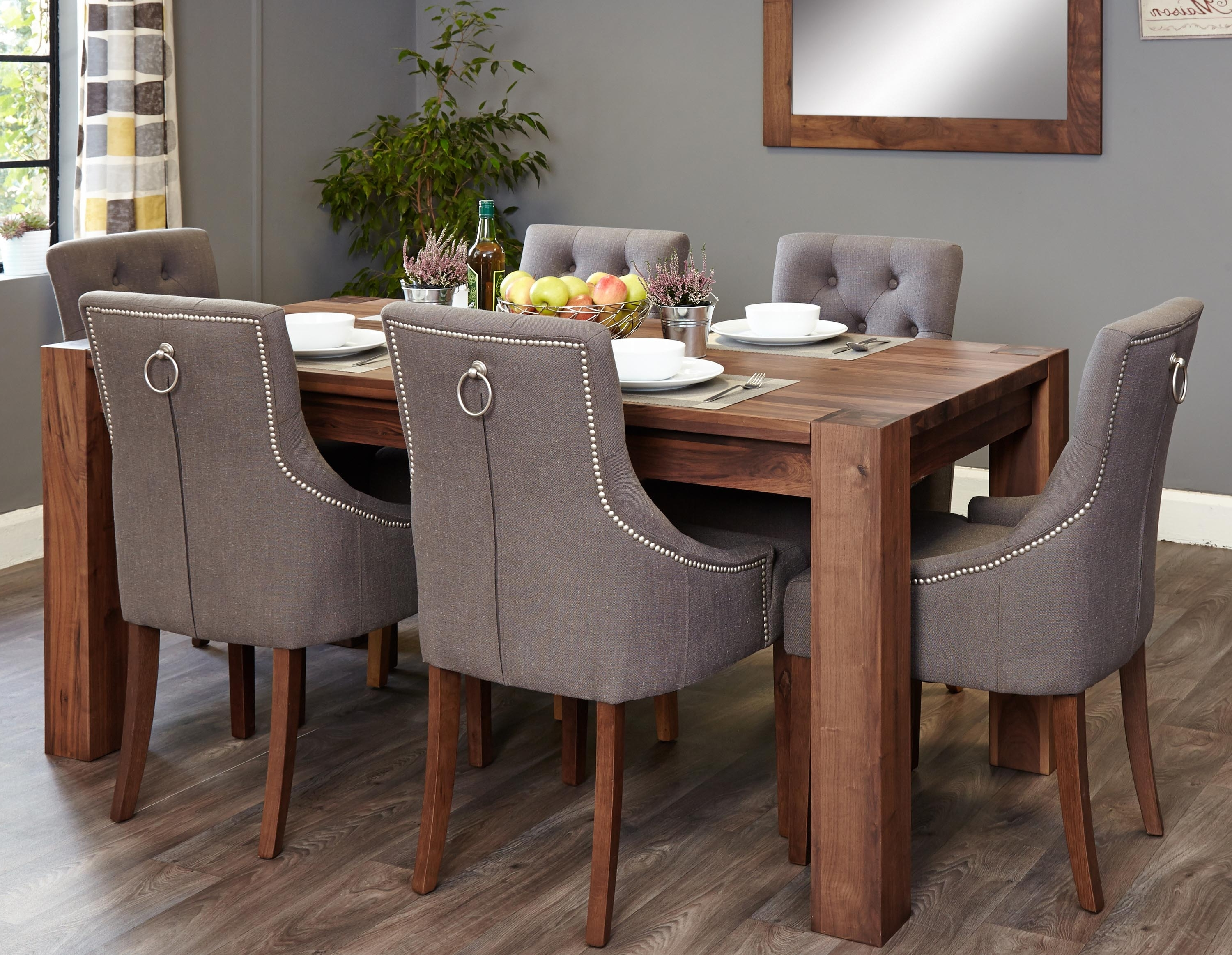 Walnut Dining Table Sets For Popular Mayan Walnut Large 6 Seater Dining Table Set (Accent) (Socdr04C Cdr03F) (View 13 of 25)