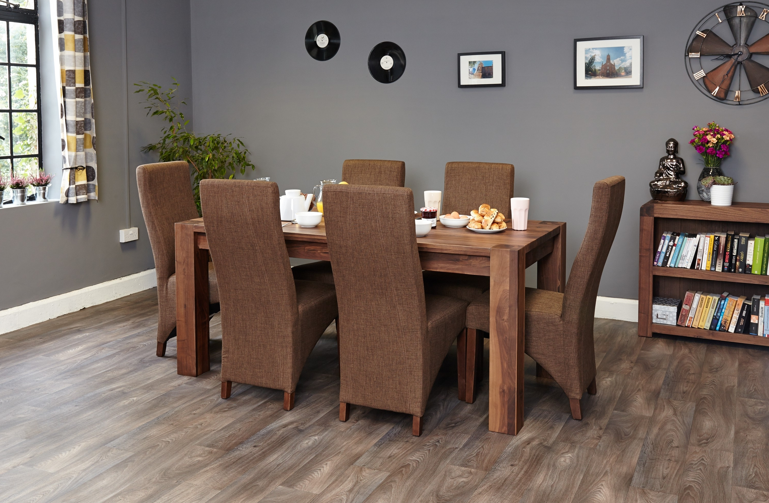 Walnut Dining Tables And 6 Chairs In Widely Used Shiro Walnut Dining Table (6 8 Seater) (View 13 of 25)