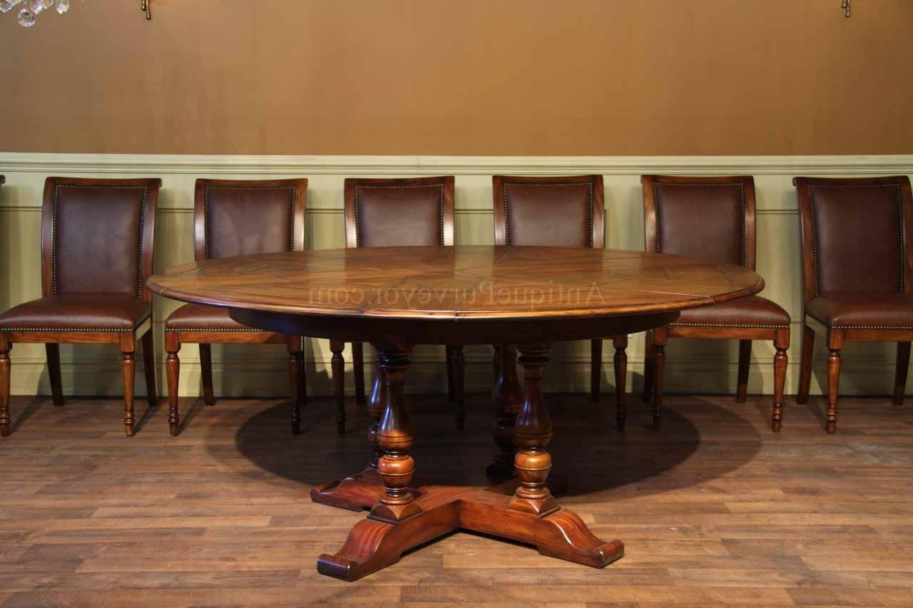 Walnut Dining Tables And Chairs Within Favorite 54 70 Round Solid Walnut Round Dining Table With Hidden Leaves (View 21 of 25)