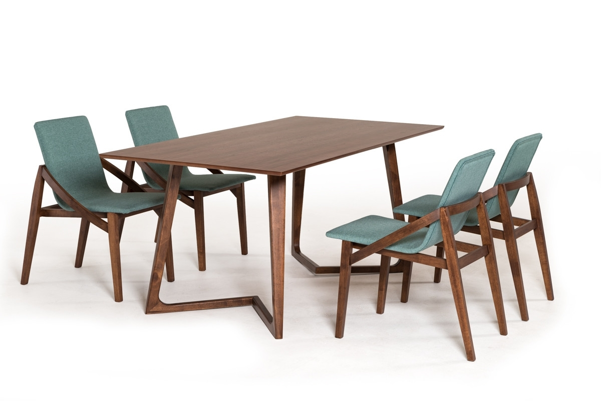 Walnut Dining Tables Pertaining To Most Recent Modrest Jett Mid Century Walnut Dining Table (View 21 of 25)