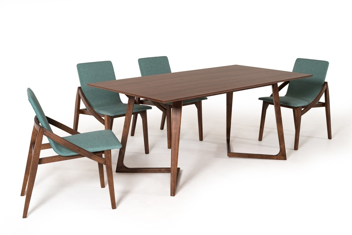 Walnut Dining Tables With Regard To Well Liked Contemporary Scandinavian Style Walnut Dining Set San Francisco (View 24 of 25)