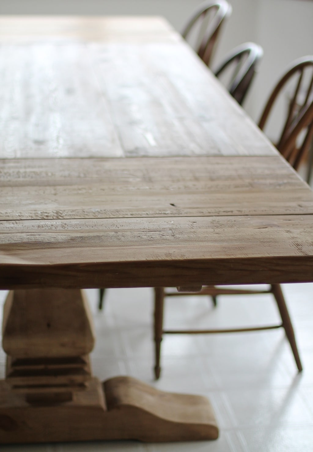 Washed Old Oak & Waxed Black Legs Bar Tables Inside Best And Newest Restoration Hardware Dining Table Finishes & Ways To Protect It (View 19 of 25)