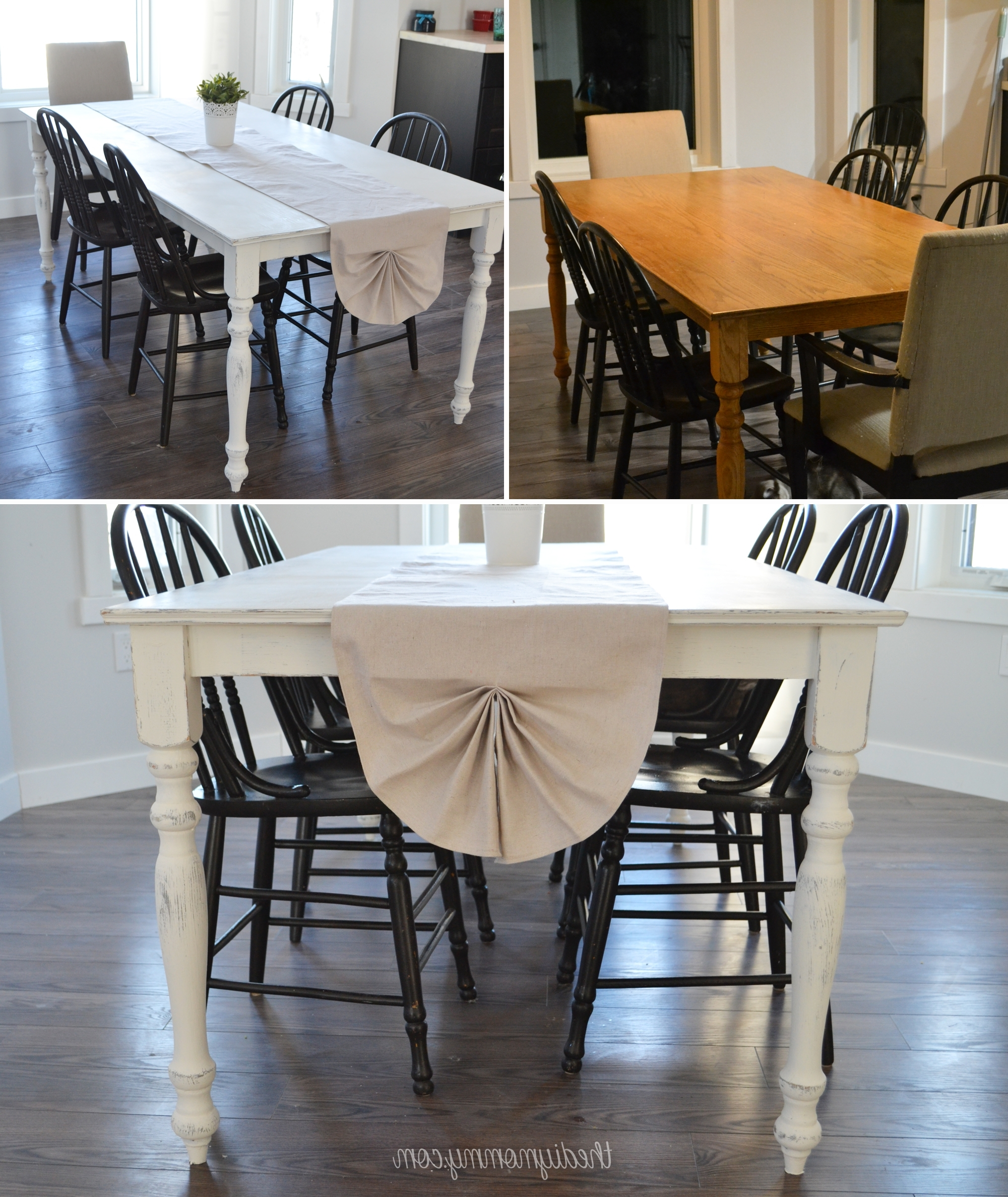 Washed Old Oak & Waxed Black Legs Bar Tables Intended For Popular A Shabby Chic Farmhouse Table With Diy Chalk Paint (View 21 of 25)