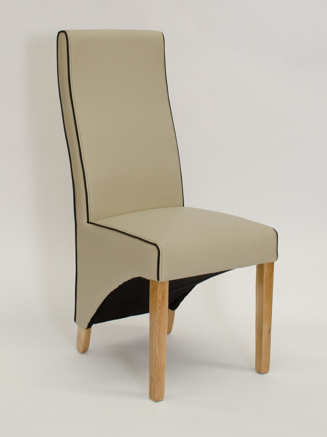 Wave Silverstone Ivory Leather Dining Chair (View 25 of 25)