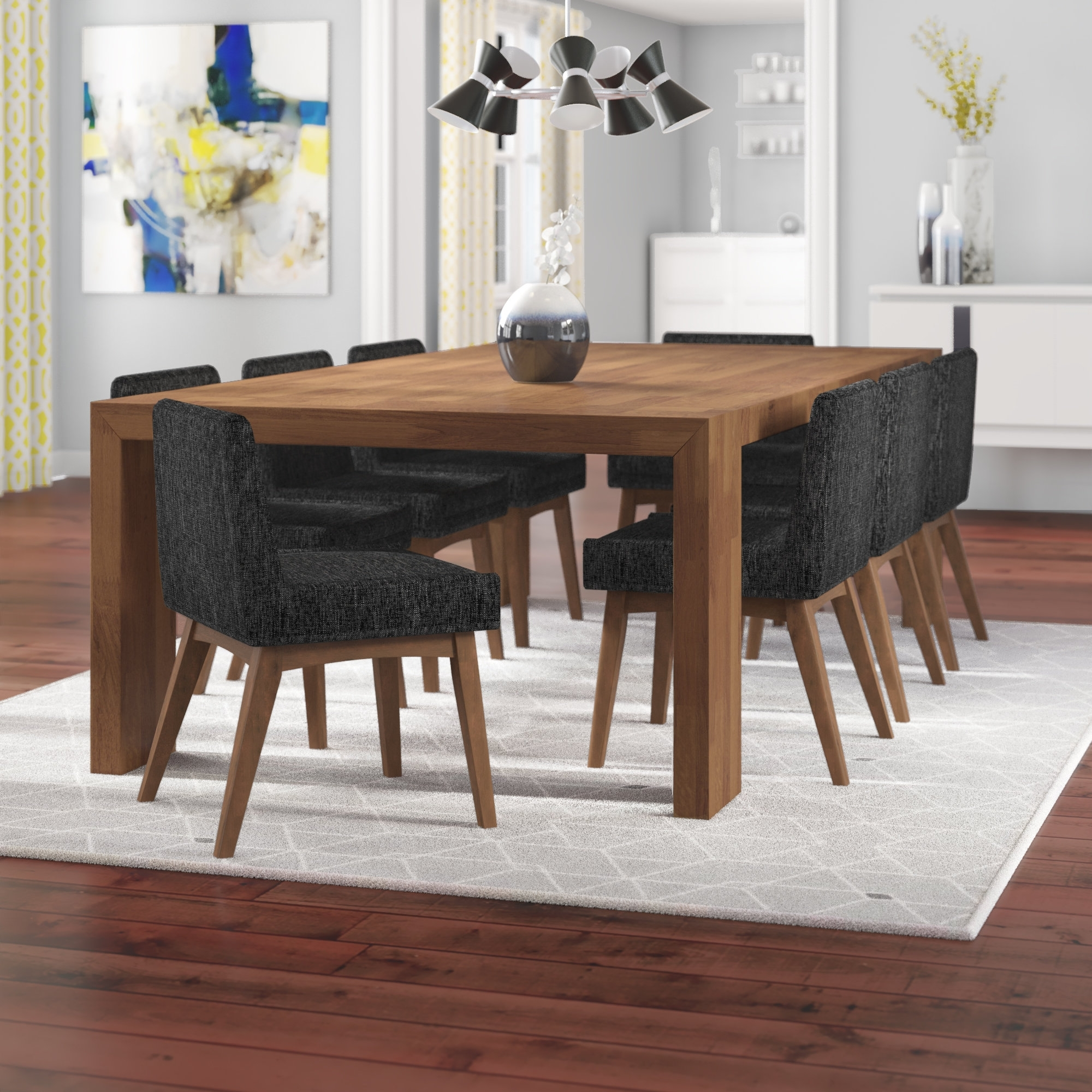 Wayfair In Caira Black 5 Piece Round Dining Sets With Upholstered Side Chairs (View 21 of 25)
