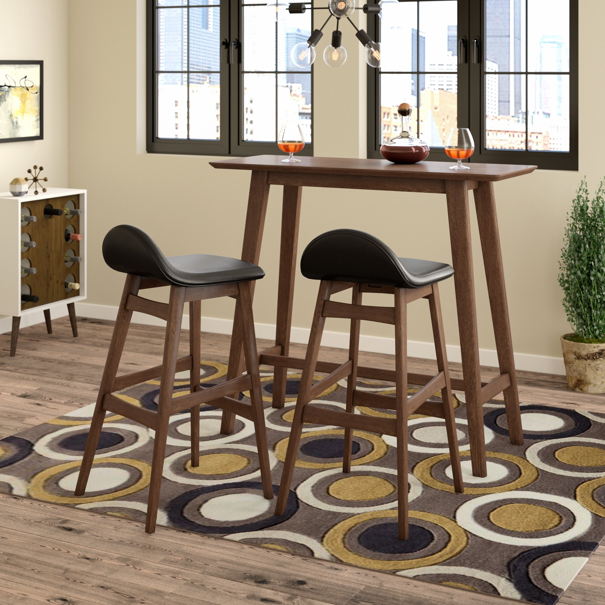 Wayfair In Popular Laurent 7 Piece Counter Sets With Upholstered Counterstools (View 21 of 25)