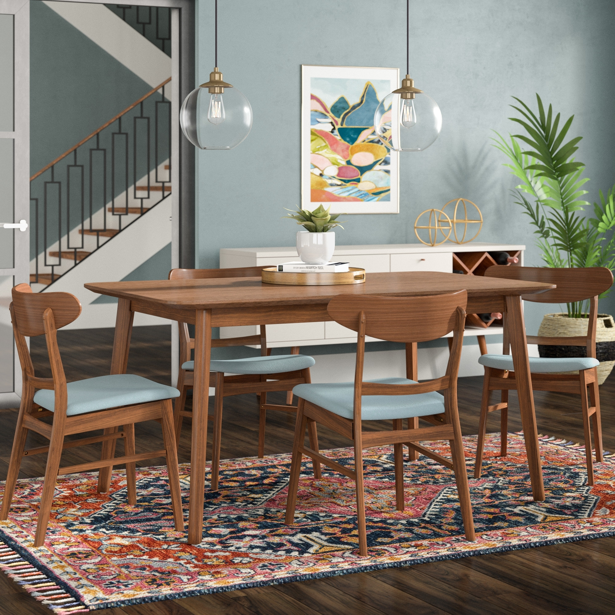 Wayfair Inside Fashionable Laurent 5 Piece Round Dining Sets With Wood Chairs (View 11 of 25)