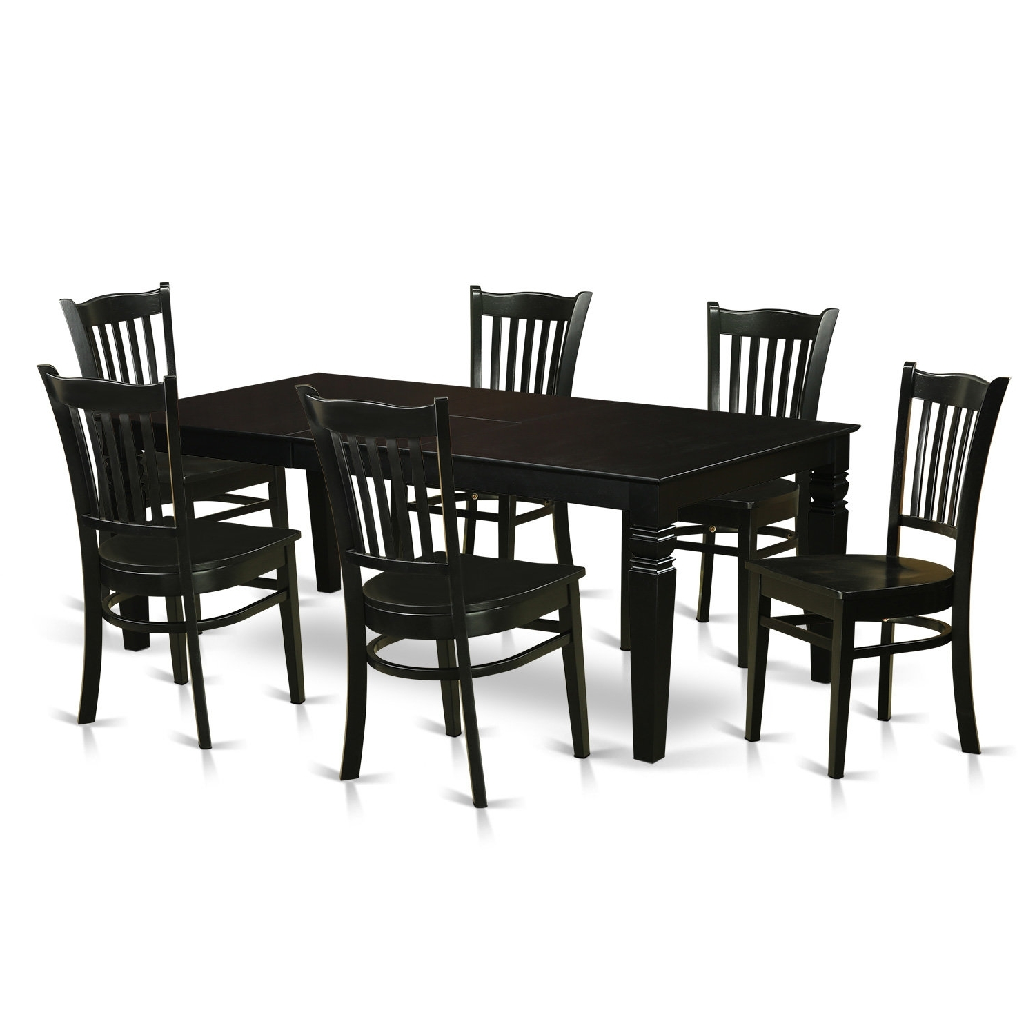 Wayfair Pertaining To Candice Ii 7 Piece Extension Rectangular Dining Sets With Uph Side Chairs (View 6 of 25)