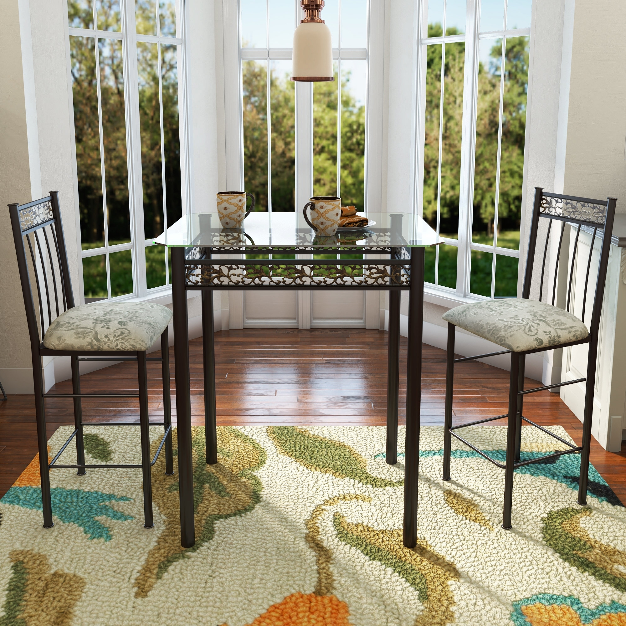 Wayfair Throughout Fashionable Laurent 7 Piece Counter Sets With Upholstered Counterstools (View 24 of 25)