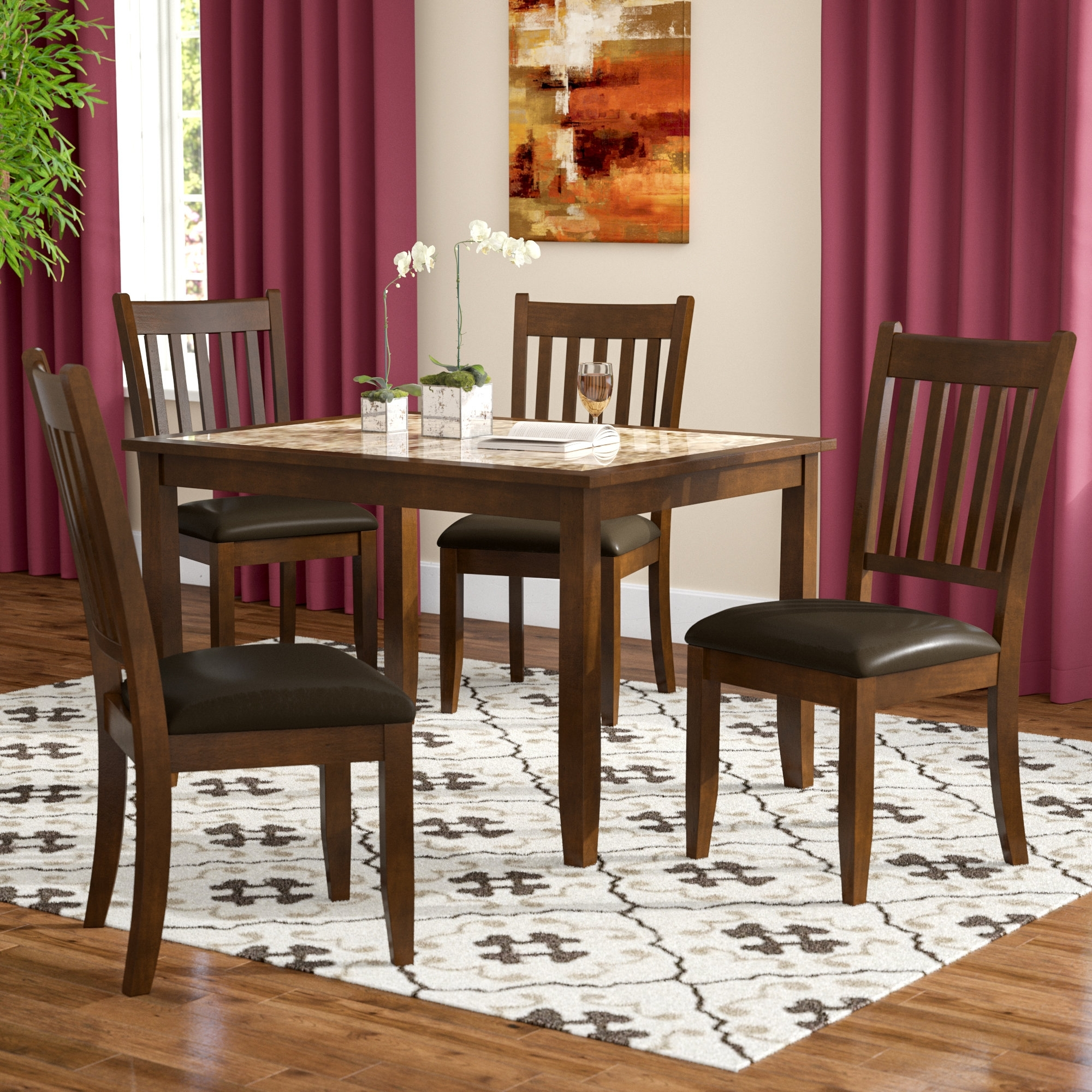 Wayfair With Recent Craftsman 5 Piece Round Dining Sets With Side Chairs (View 17 of 25)