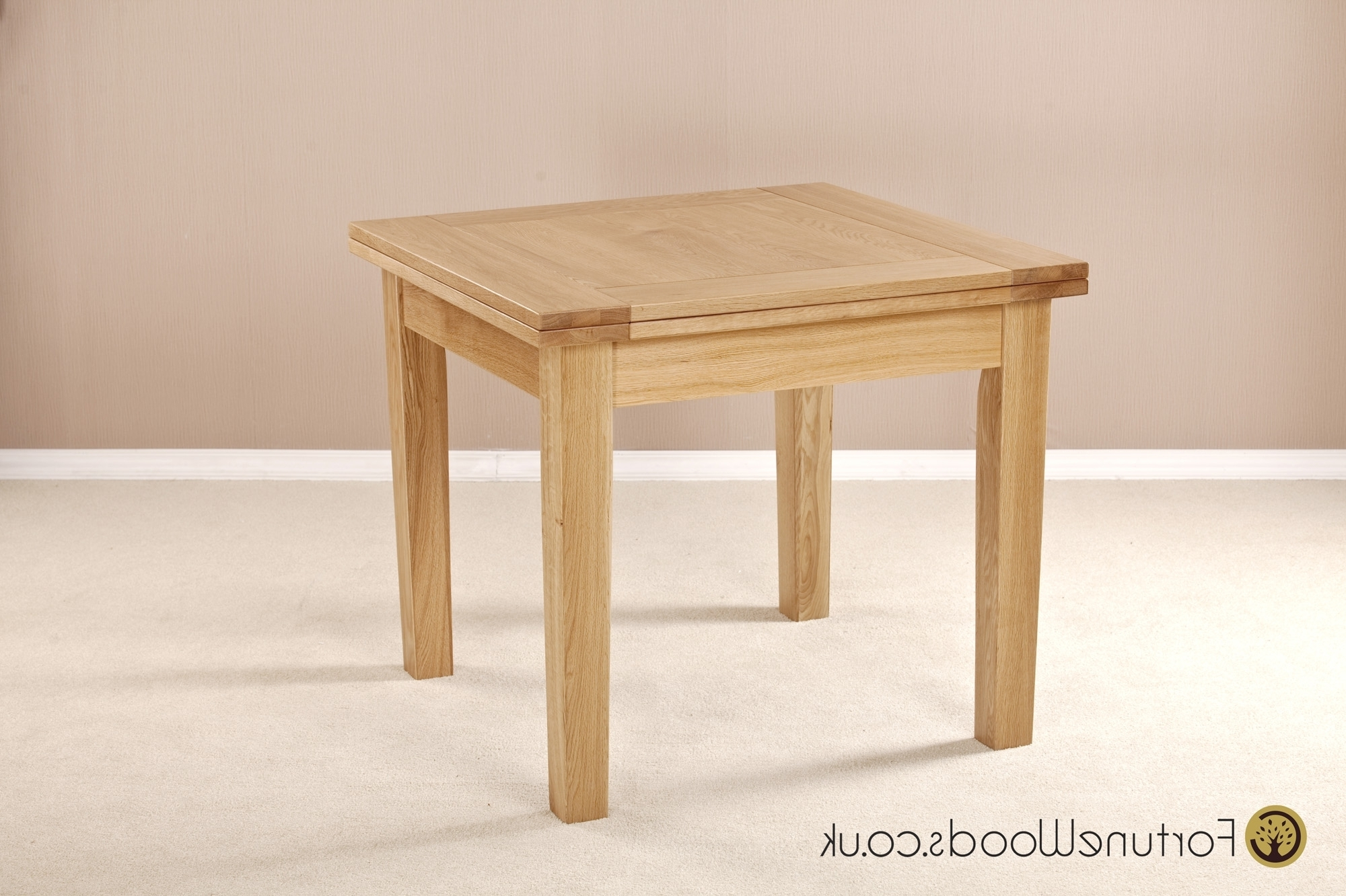 Well Known 3' X 3' Flip Top Extending Oak Table From Fortune Woods Pertaining To Cheap Oak Dining Tables (View 20 of 25)
