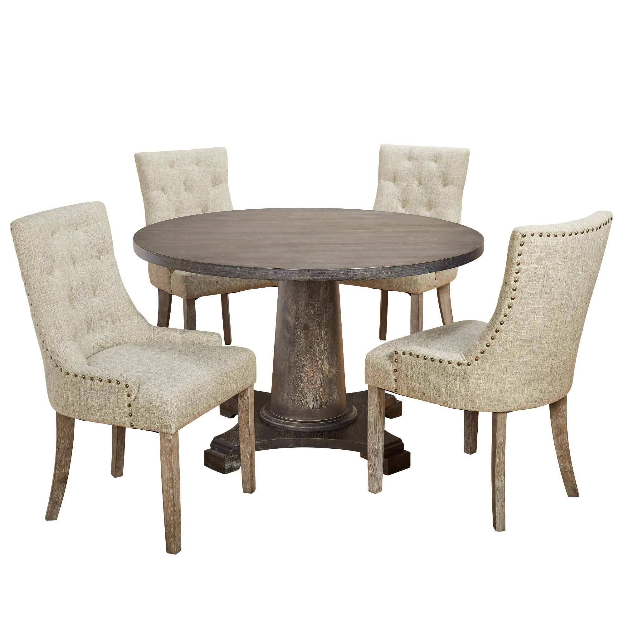 Well Known 5Pc Ariane Dining Set – Gray – Angelo:home Within Caden 5 Piece Round Dining Sets (View 22 of 25)
