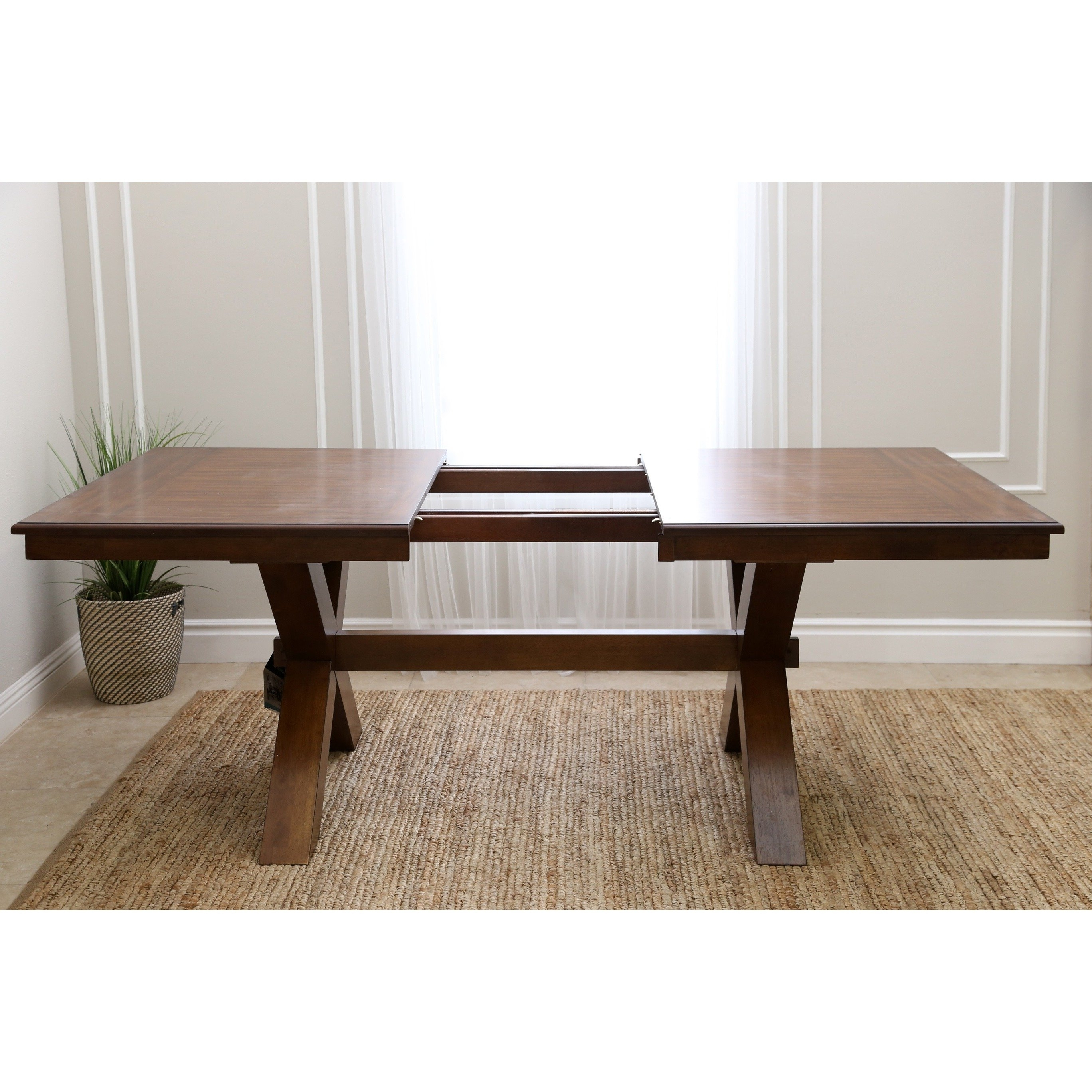 Well Known Acacia Dining Tables Intended For Shop Abbyson Braxton Acacia Dining Table – Brown – On Sale – Free (View 18 of 25)