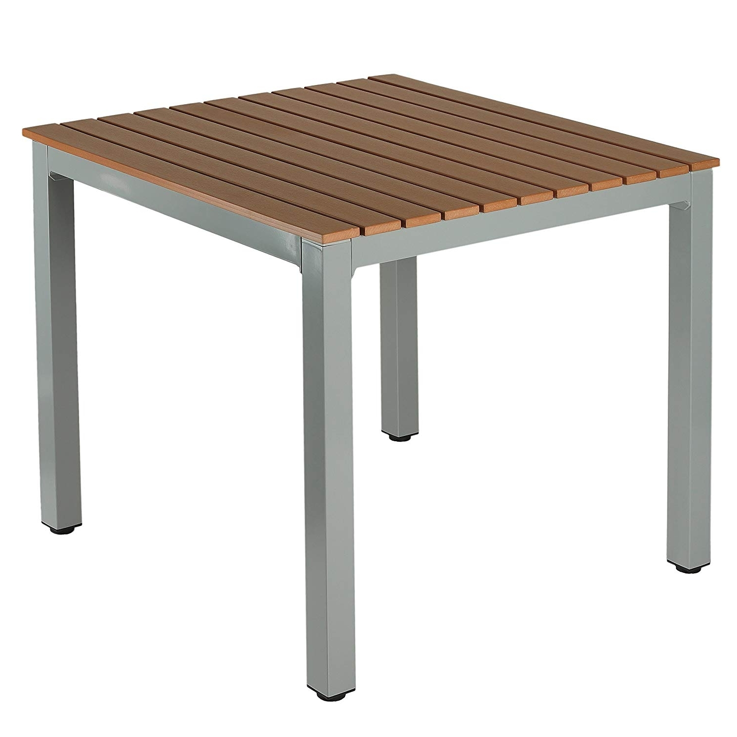 Well Known Amazon : Cortesi Home Home Avery Aluminum Outdoor Table In Poly With Regard To Jaxon Grey Rectangle Extension Dining Tables (View 23 of 25)