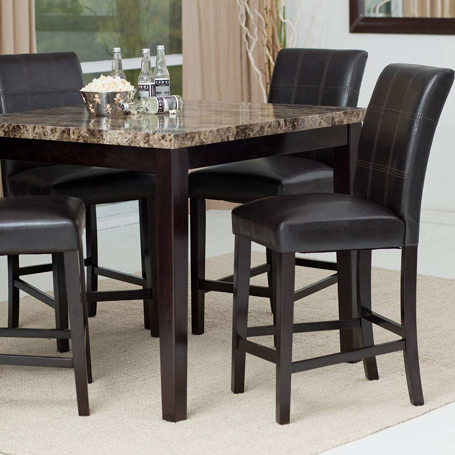 Featured Photo of Palazzo 3 Piece Dining Table Sets