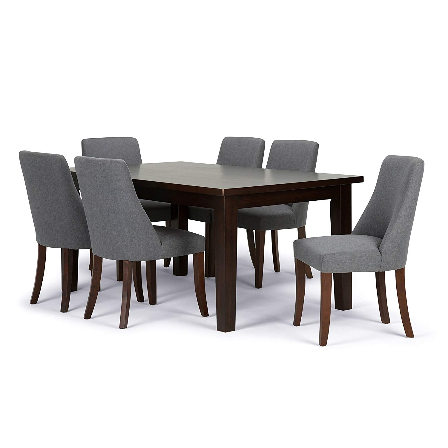 Well Known Amazon: Simpli Home Walden 9 Piece Dining Set, Stone Grey With Walden 9 Piece Extension Dining Sets (View 7 of 25)