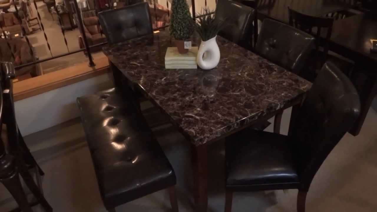 Well Known Ashley Furniture Lacey Dining Table Set W/ Bench D328 Review – Youtube Regarding Palazzo 3 Piece Dining Table Sets (View 25 of 25)