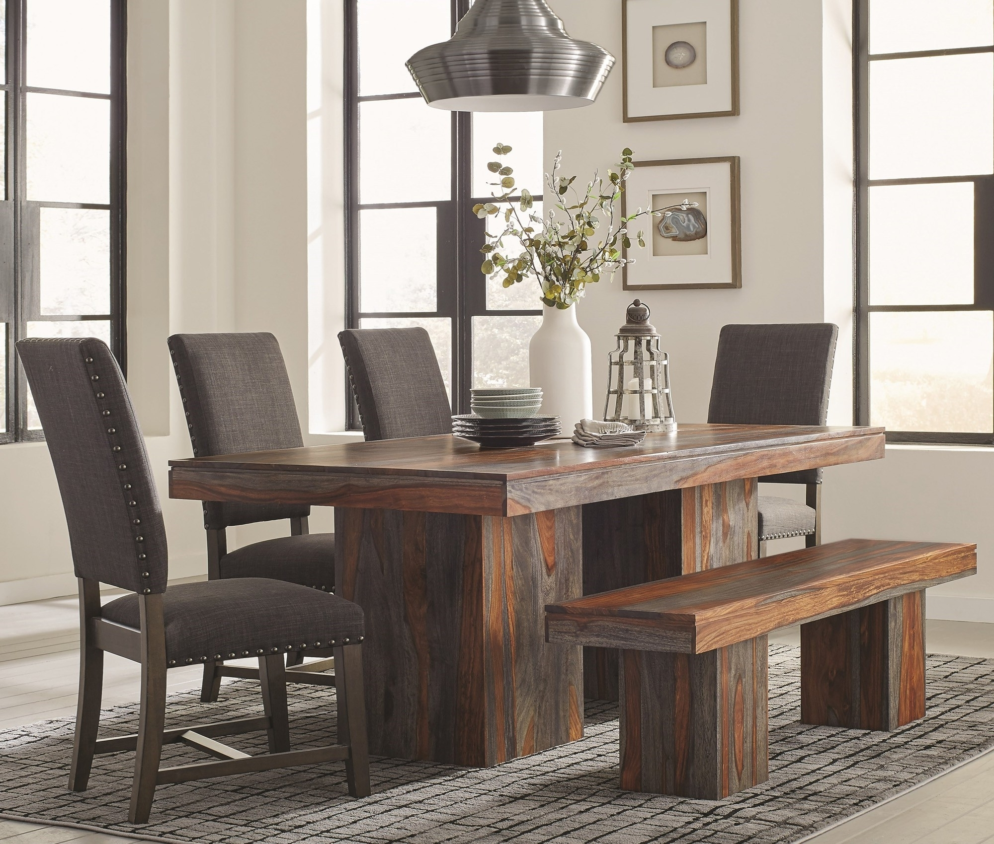 Well Known Binghamton Grey Sheesham Dining Room Furniture Collectionscott Pertaining To Sheesham Dining Tables And Chairs (View 21 of 25)