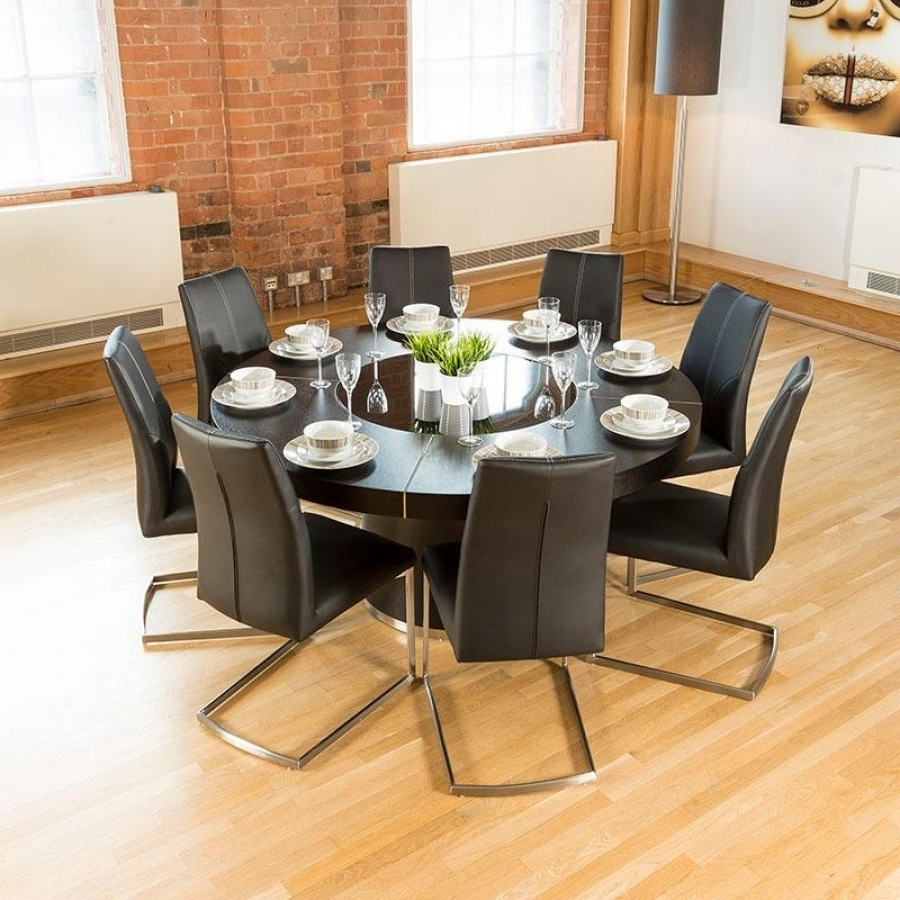 Well Known Black 8 Seater Dining Tables Throughout Round Dining Room Table Set For 8 Best Of Elegant 8 Seater Dining (View 16 of 25)