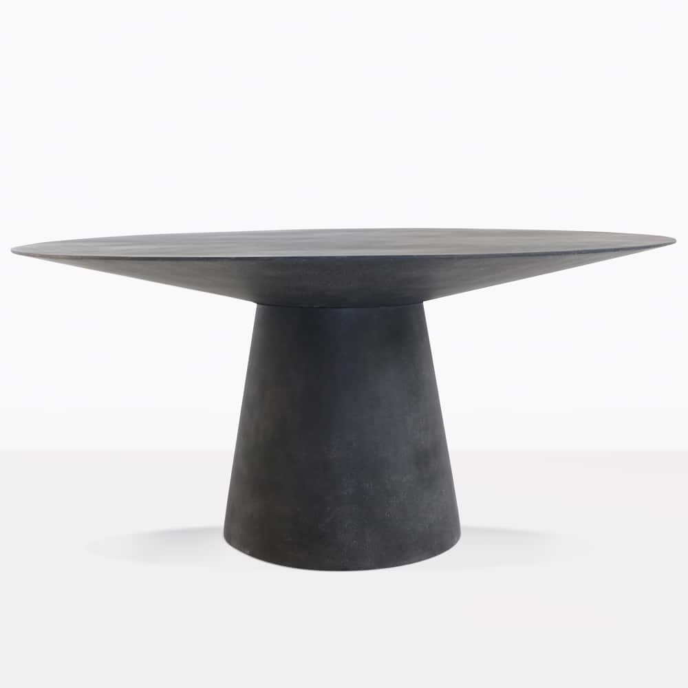 Well Known Black Dining Tables With Holly Concrete Dining Table (Black) (View 23 of 25)