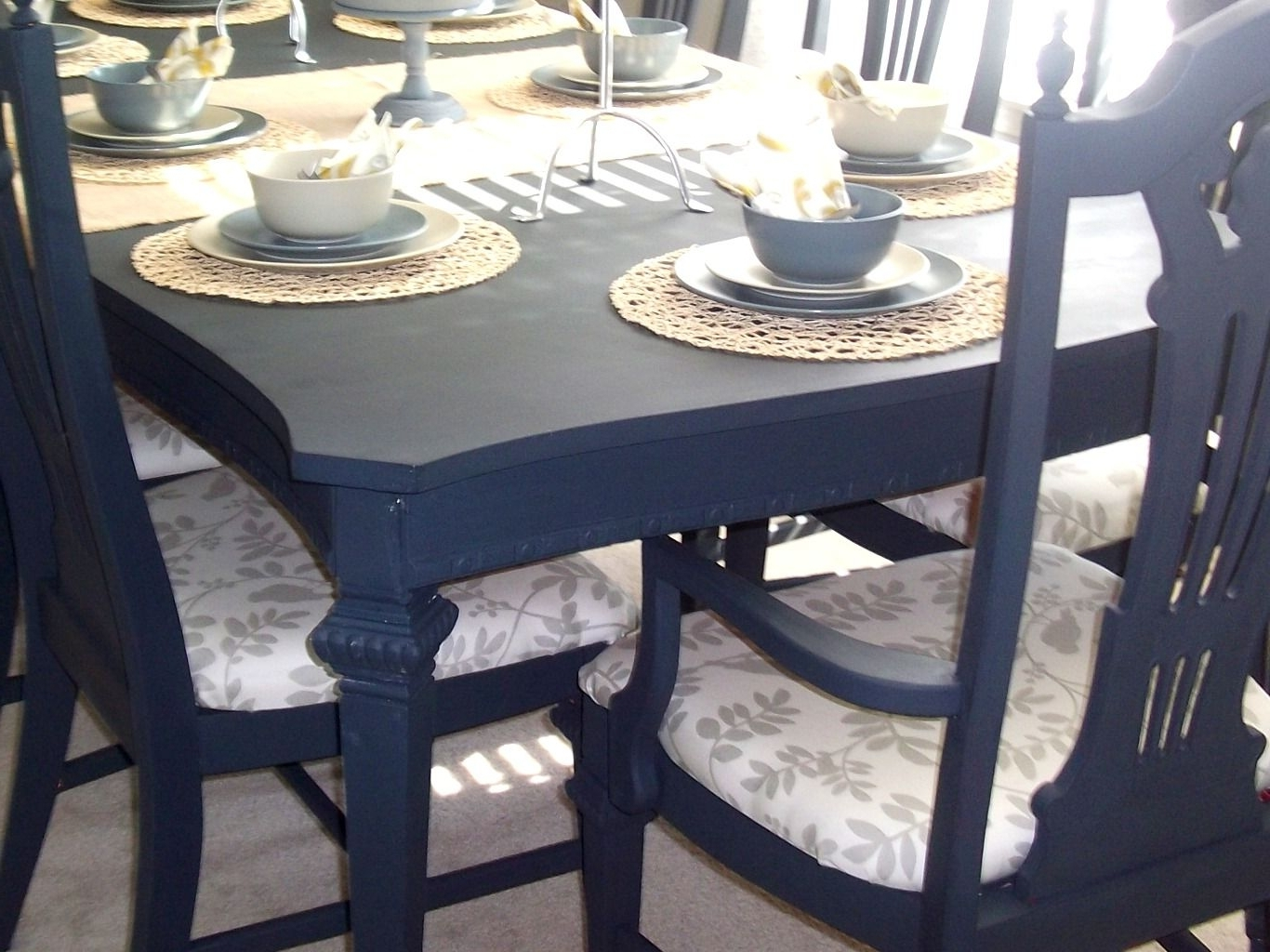 Well Known Blue Dining Tables With Paint Dining Table (View 4 of 25)