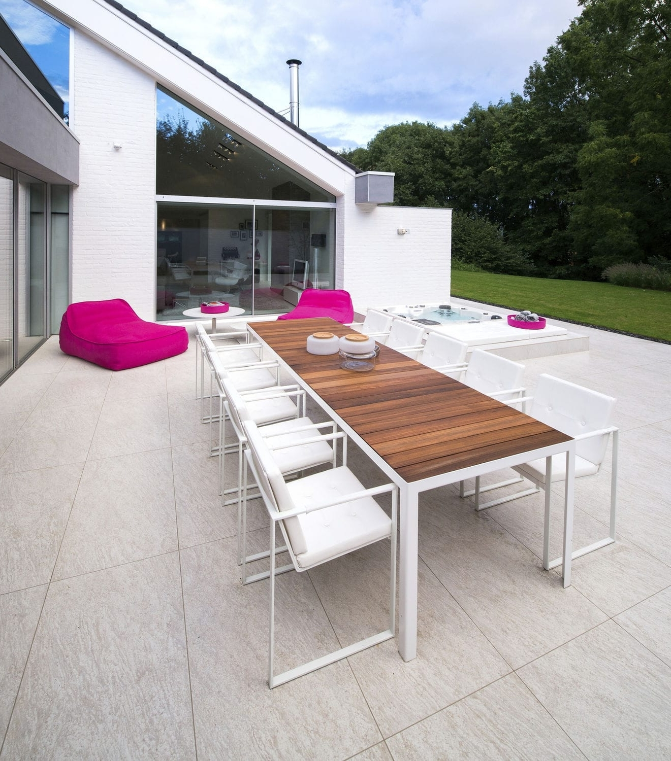 Well Known Brushed Metal Dining Tables For Contemporary Dining Table / Teak / Brushed Metal / Chrome Steel (View 16 of 25)