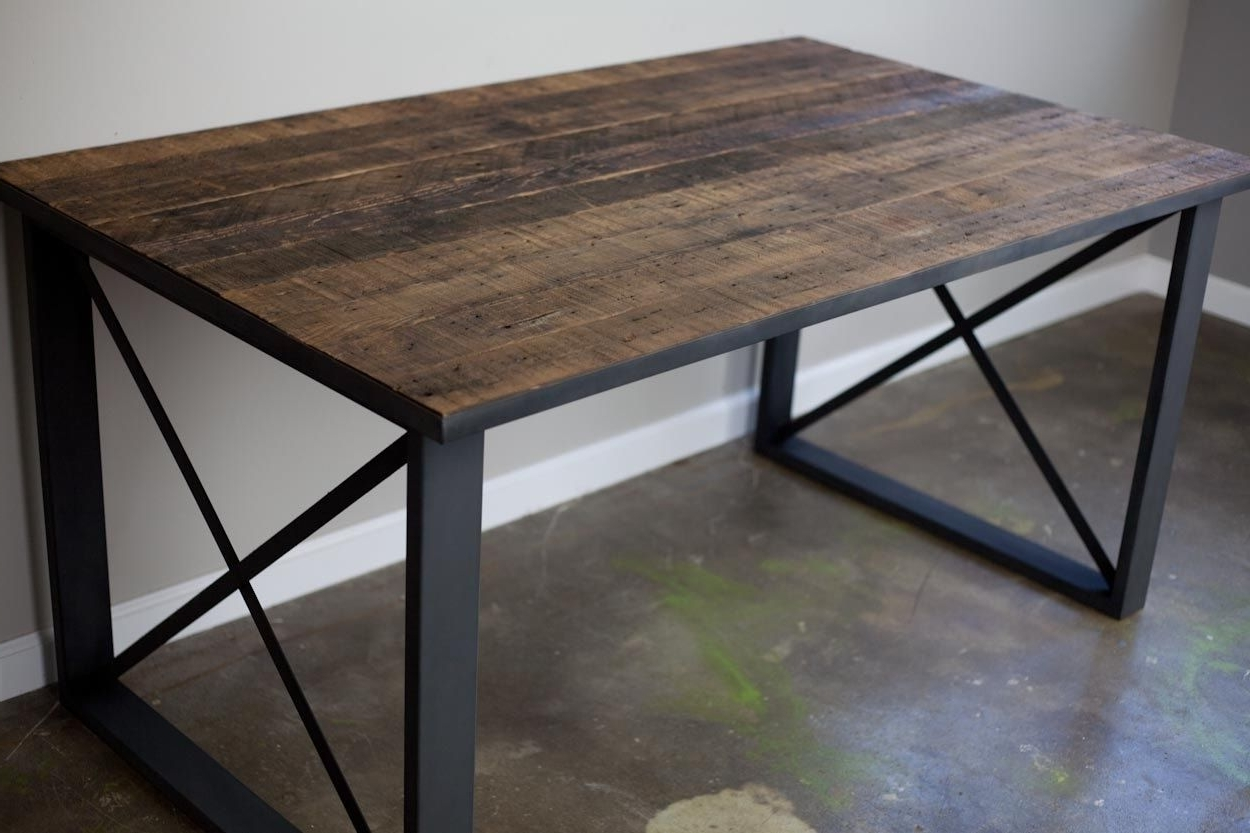 Well Known Buy A Hand Made Reclaimed Wood Dining Table/desk (View 9 of 25)