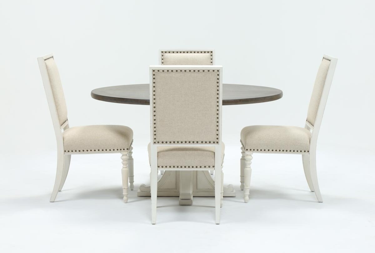 Well Known Candice Ii 5 Piece Round Dining Sets With Slat Back Side Chairs Pertaining To Candice Ii 5 Piece Round Dining Set (View 2 of 25)