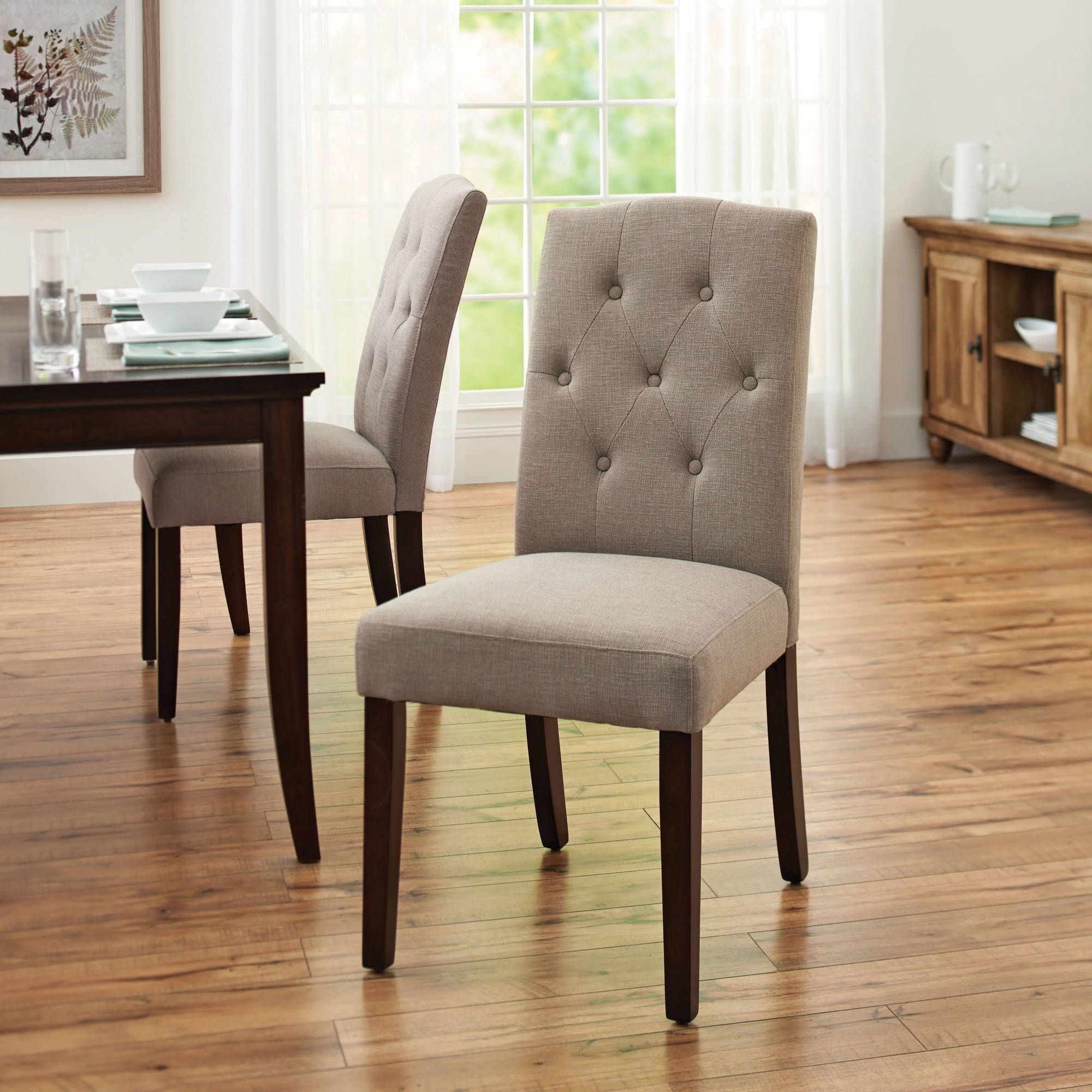 Well Known Cheap Dining Room Chairs Throughout Better Homes And Gardens Parsons Tufted Dining Chair, Taupe (View 2 of 25)