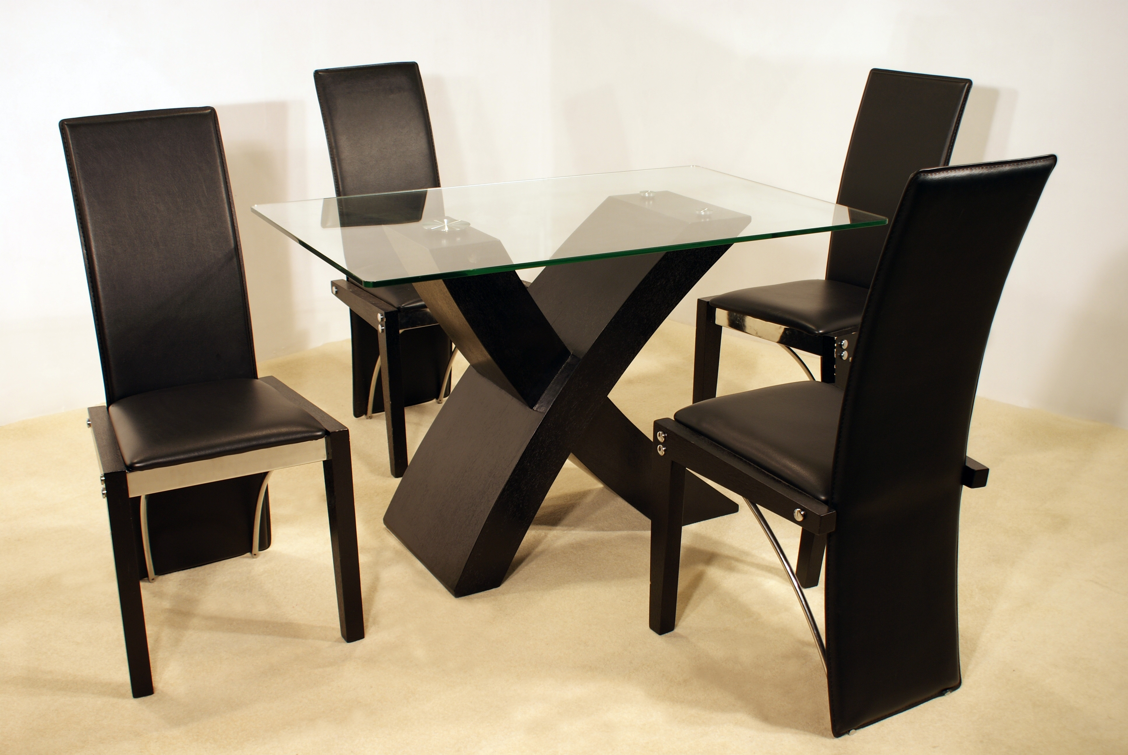 Well Known Cheap Glass Dining Tables And 4 Chairs In Arizona Black Dining Set With 4 Chairs – Cheap Home Furniture (View 19 of 25)