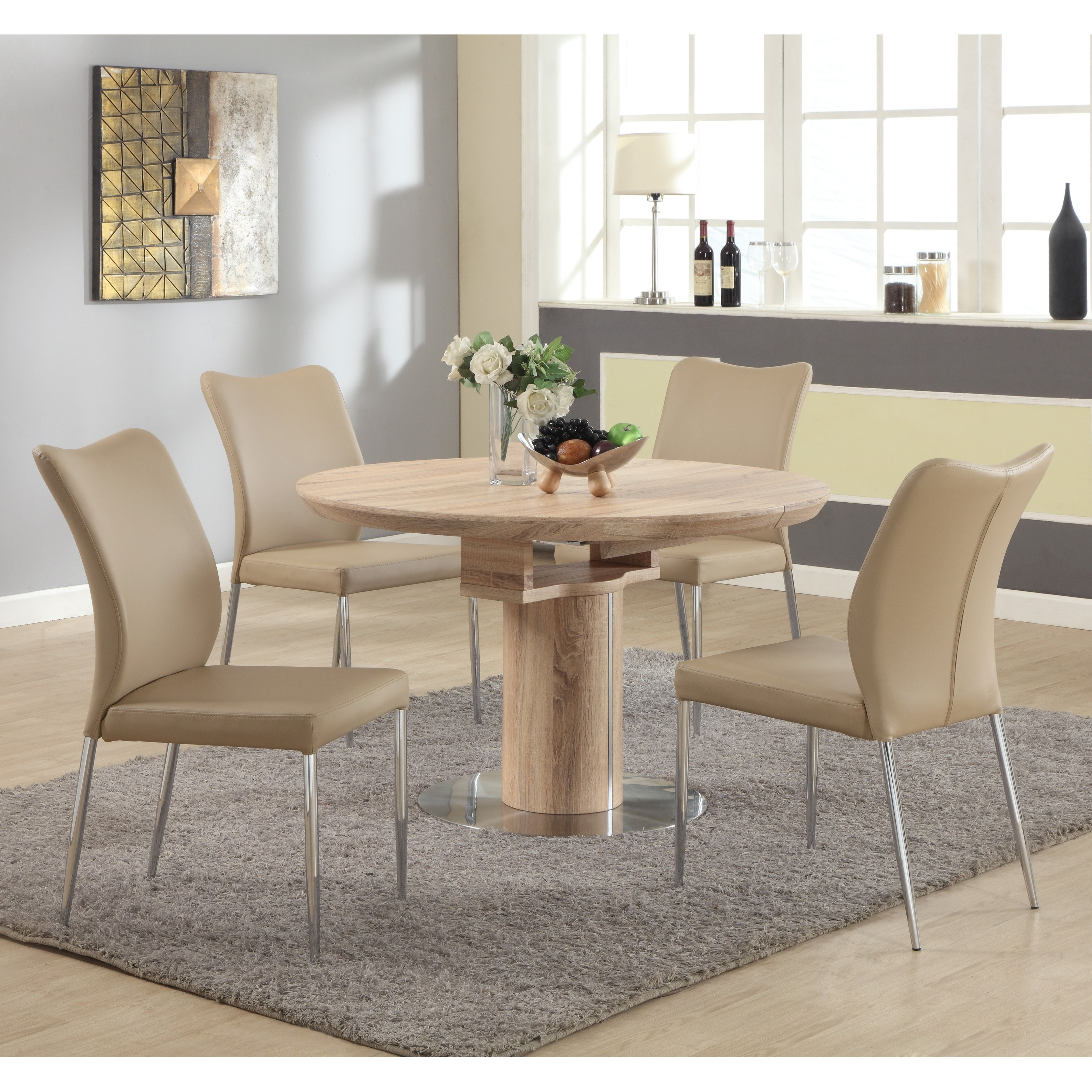Well Known Chintaly Nora 5 Piece Dining Table Set – Walmart For Bradford Dining Tables (View 25 of 25)
