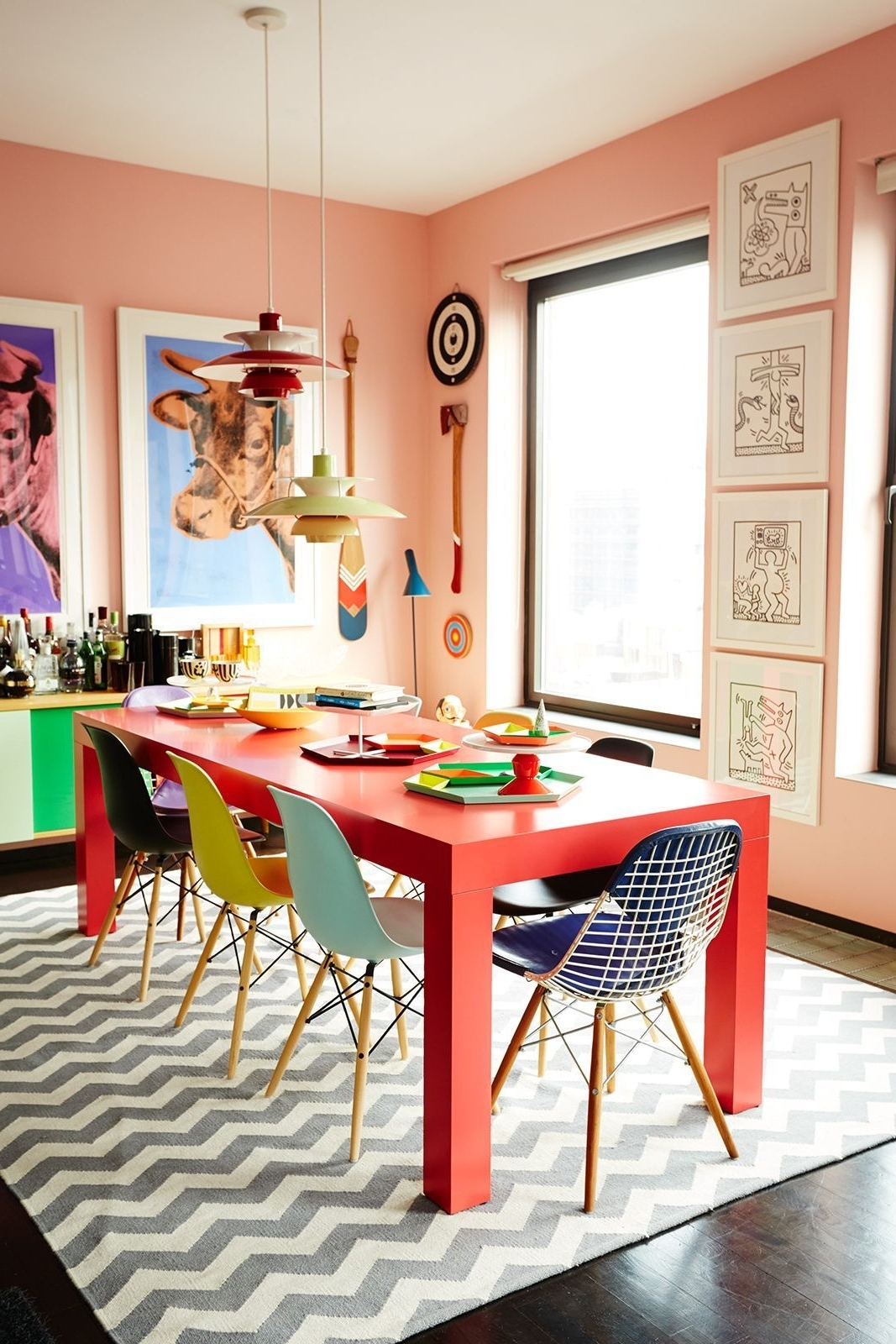 Well Known Colourful Dining Tables And Chairs Pertaining To Meet The Ceo Who Mixes Bold Colors Like A Boss (And Poses Like Tyra (View 2 of 25)
