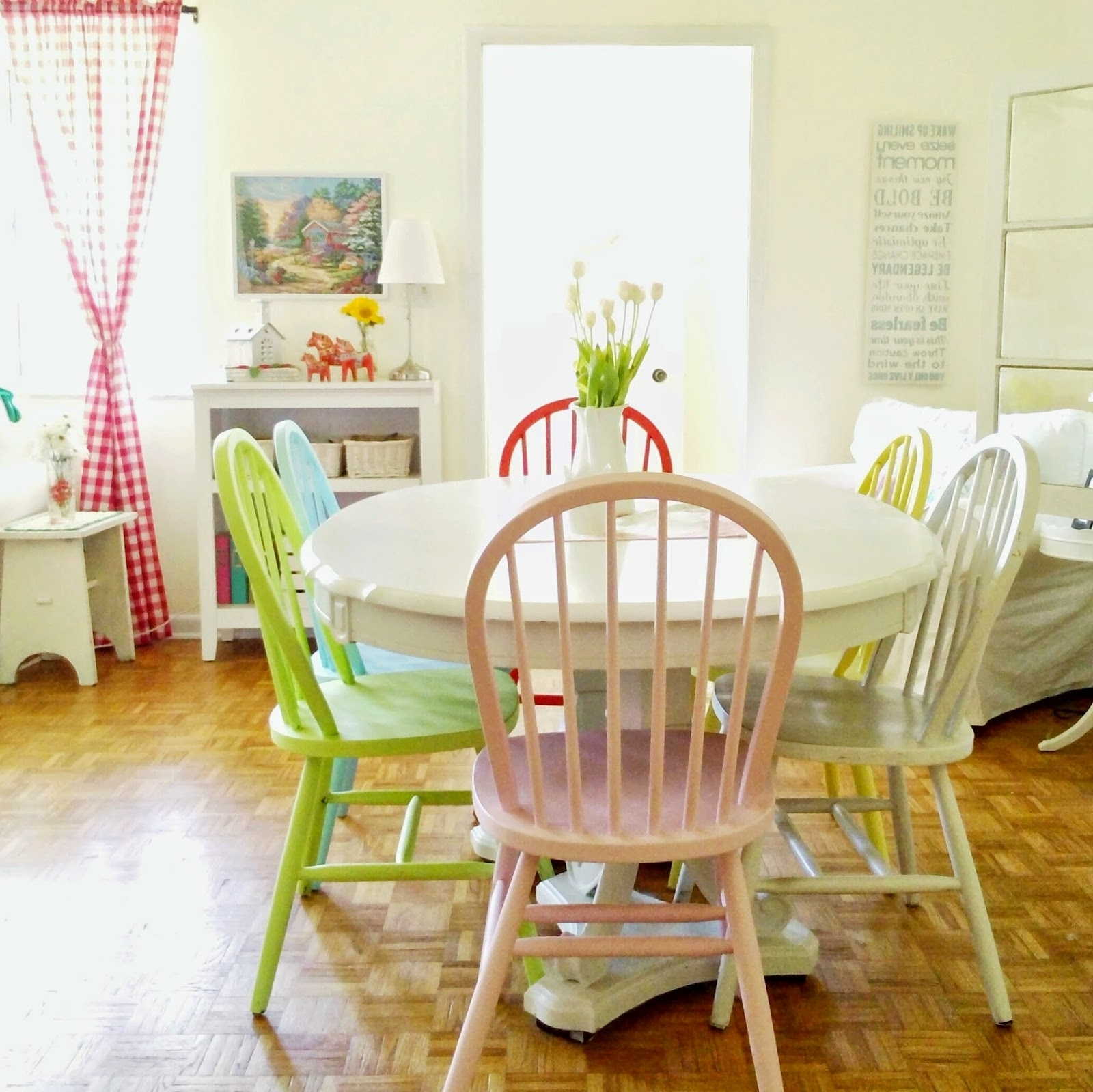 Featured Photo of Colourful Dining Tables And Chairs