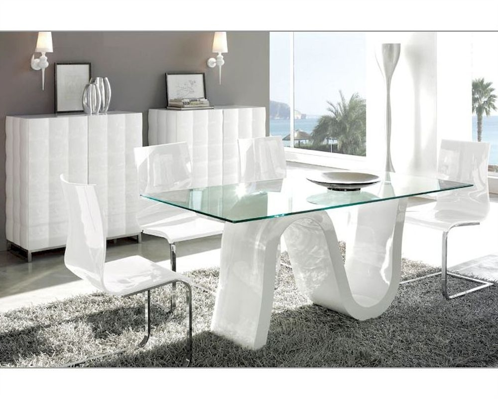 Well Known Contemporary Dining Room Sets White : Simple Lines In The Inside Contemporary Dining Tables Sets (View 23 of 25)
