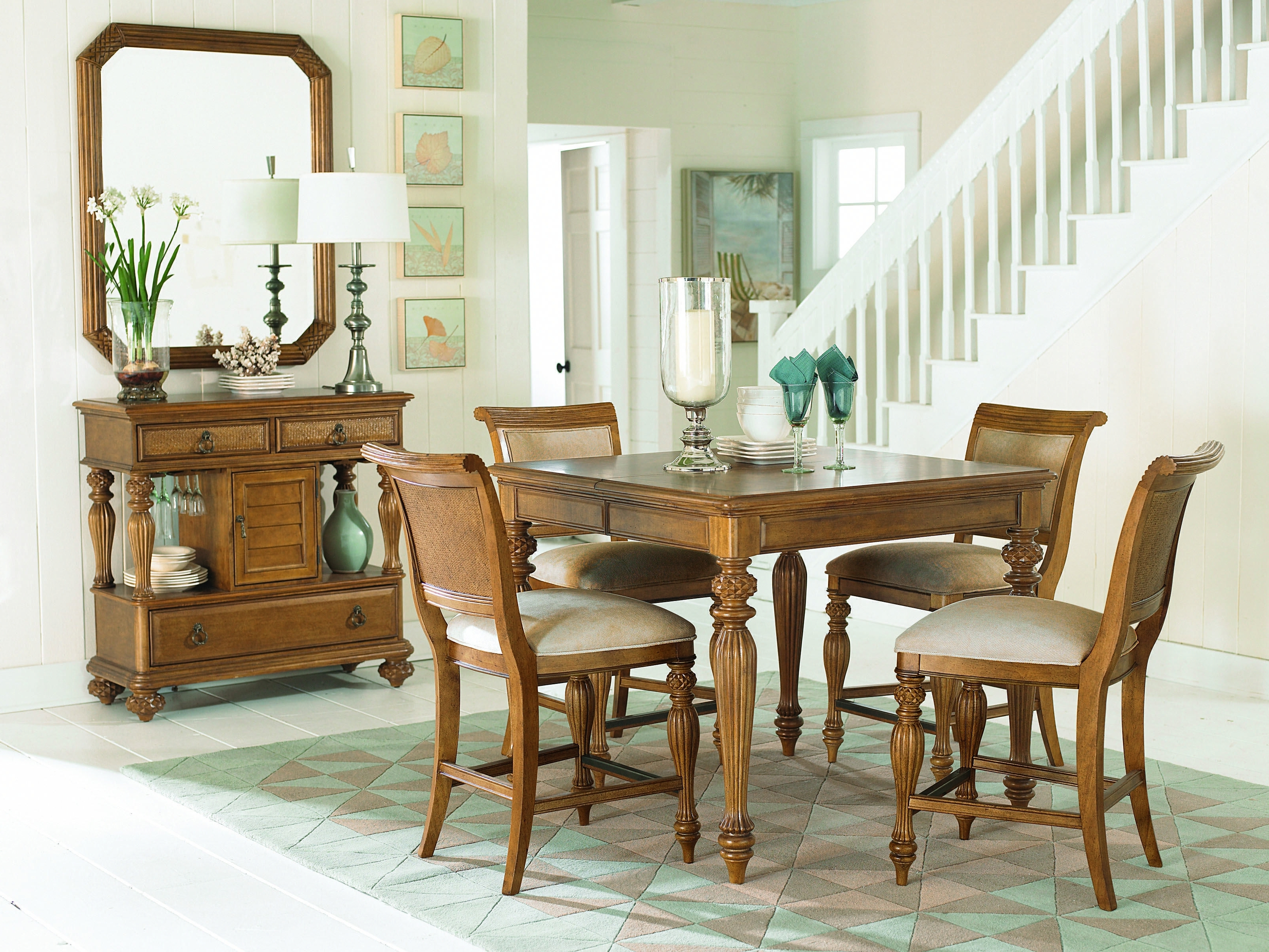 Well Known Craftsman 7 Piece Rectangle Extension Dining Sets With Side Chairs Inside Grand Isle Collection – Rectangle Leg Table #diningtable #grandisle (View 17 of 25)