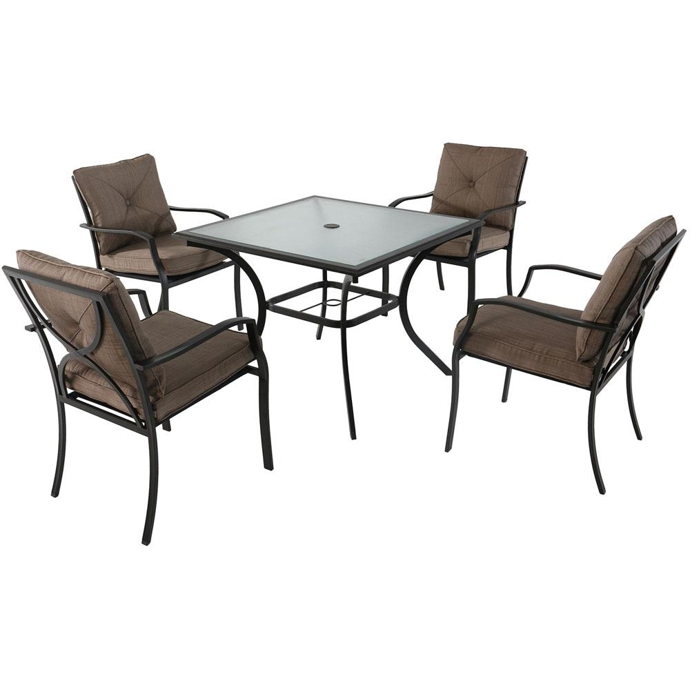 Well Known Crawford 7 Piece Rectangle Dining Sets With Cambridge Crawford 5 Piece Steel Outdoor Dining Set With Copper (View 25 of 25)
