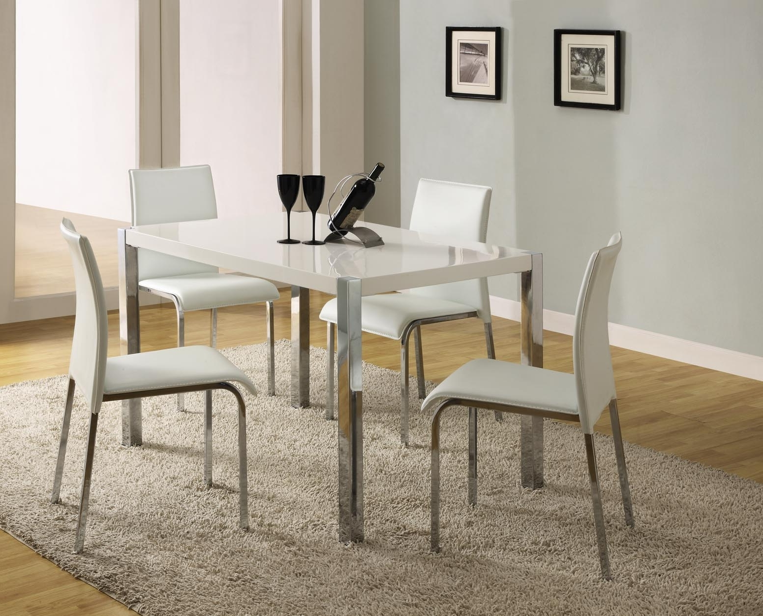 Well Known Cream Gloss Dining Tables And Chairs Intended For Bradford Furniture & Carpets Online Store (View 24 of 25)