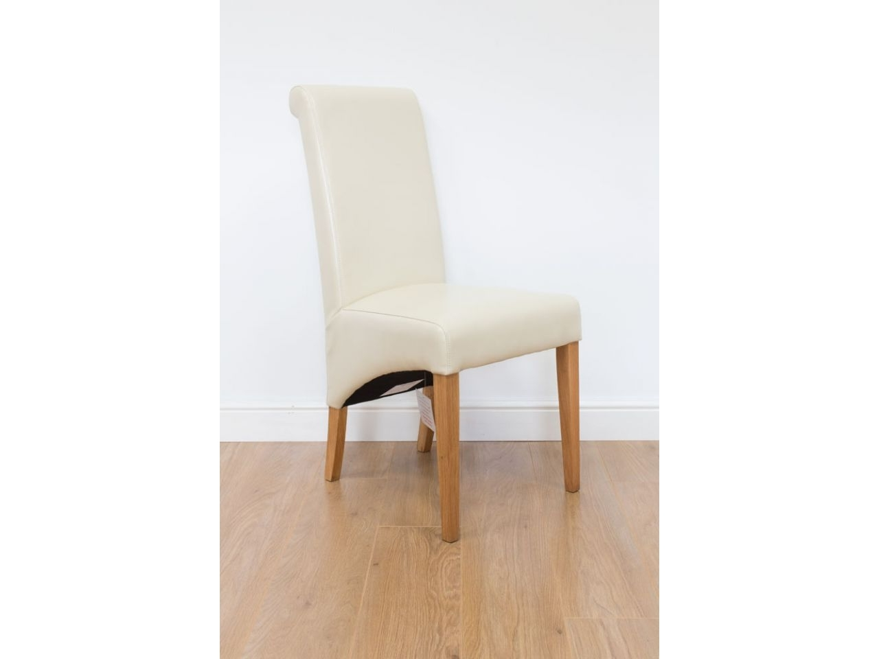 Well Known Cream Leather Dining Chairs Inside Tuscan Cream Leather Dining Chair (View 24 of 25)