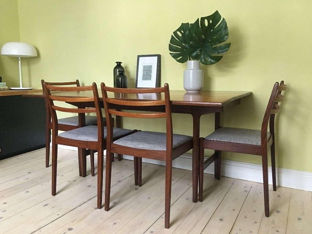 Well Known Danish Style Dining Tables Throughout Retro Vintage Mid Century Teak Danish Style Extendable Dining Table (View 11 of 25)