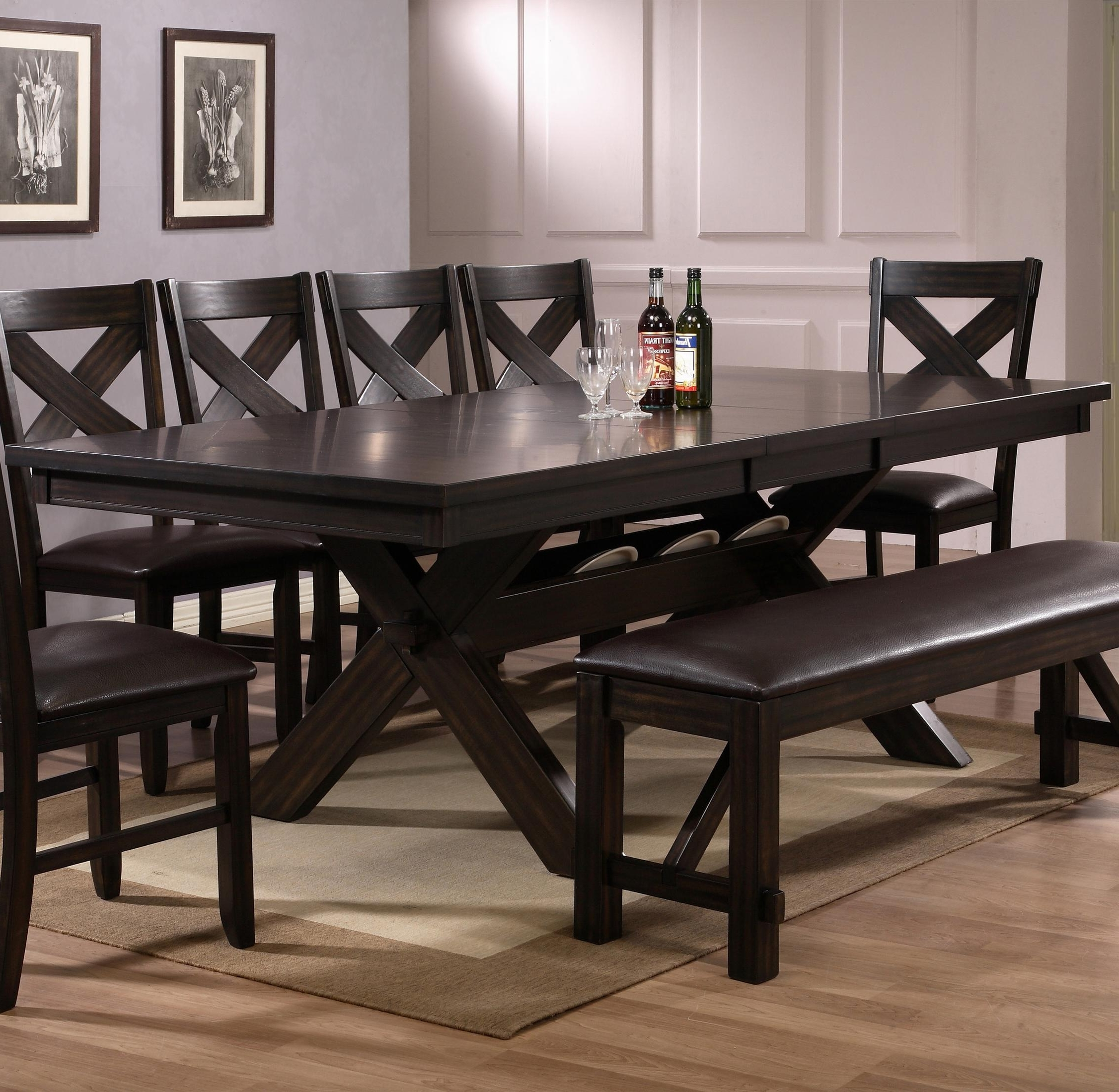 Well Known Dark Dining Room Tables Pertaining To Belfort Essentials Havana Rectangular Dining Table With Storage (View 24 of 25)