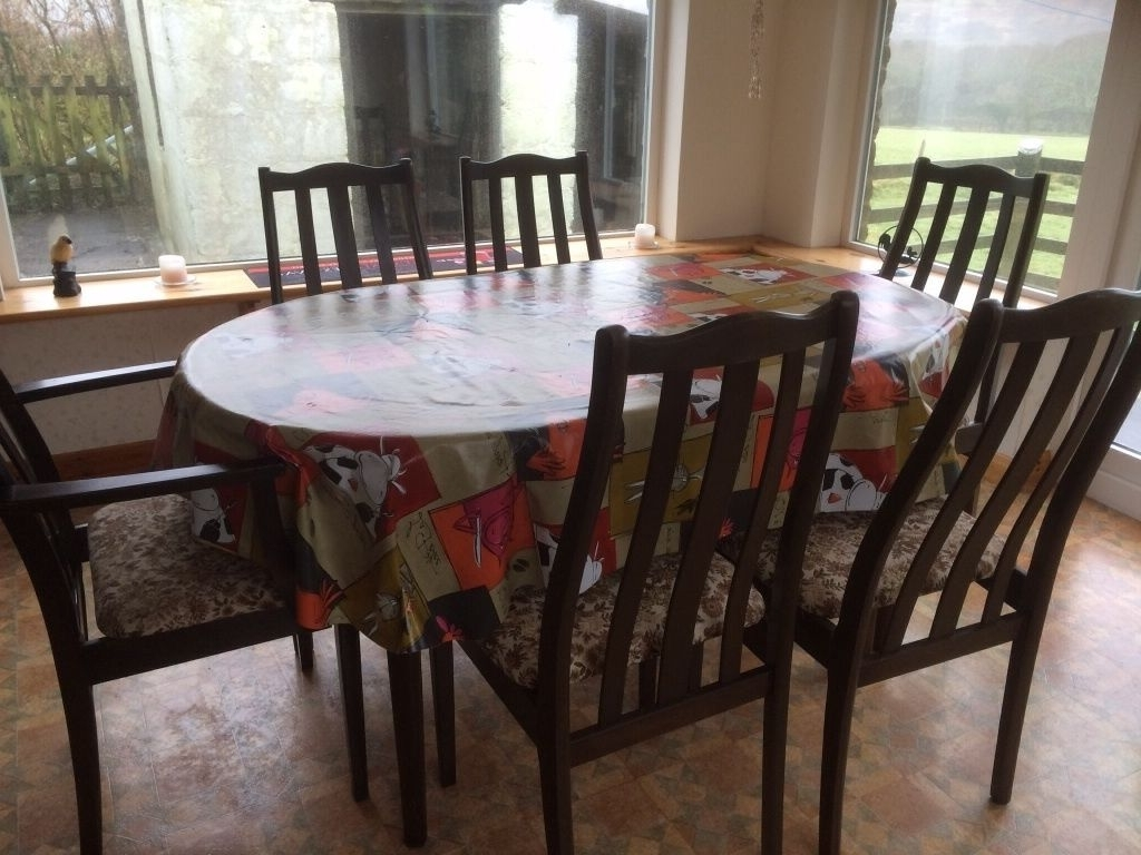 Well Known Dark Wood Dining Table And Chairs ? Upcycle ? (View 5 of 25)