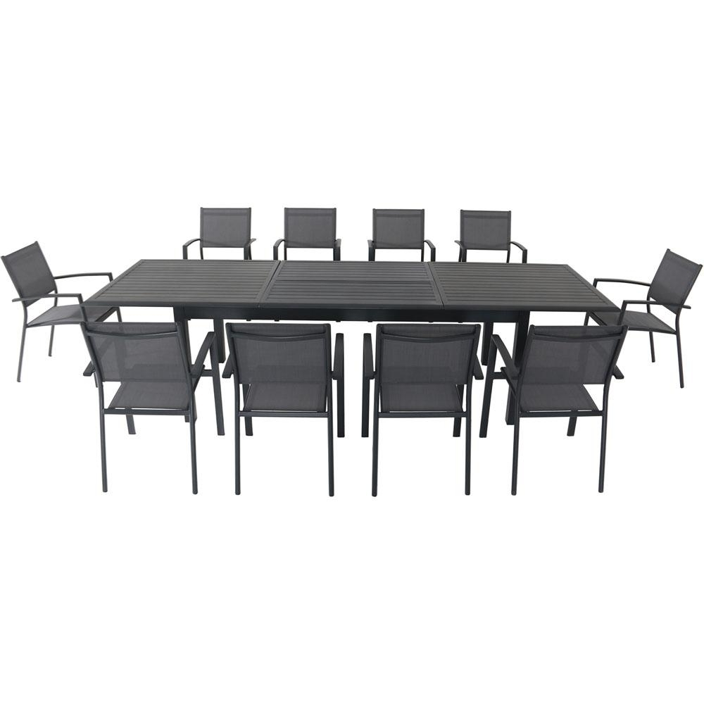 Well Known Dawson Dining Tables Pertaining To Hanover Dawson 11 Piece Aluminum Outdoor Dining Set With 10 Sling (View 15 of 25)