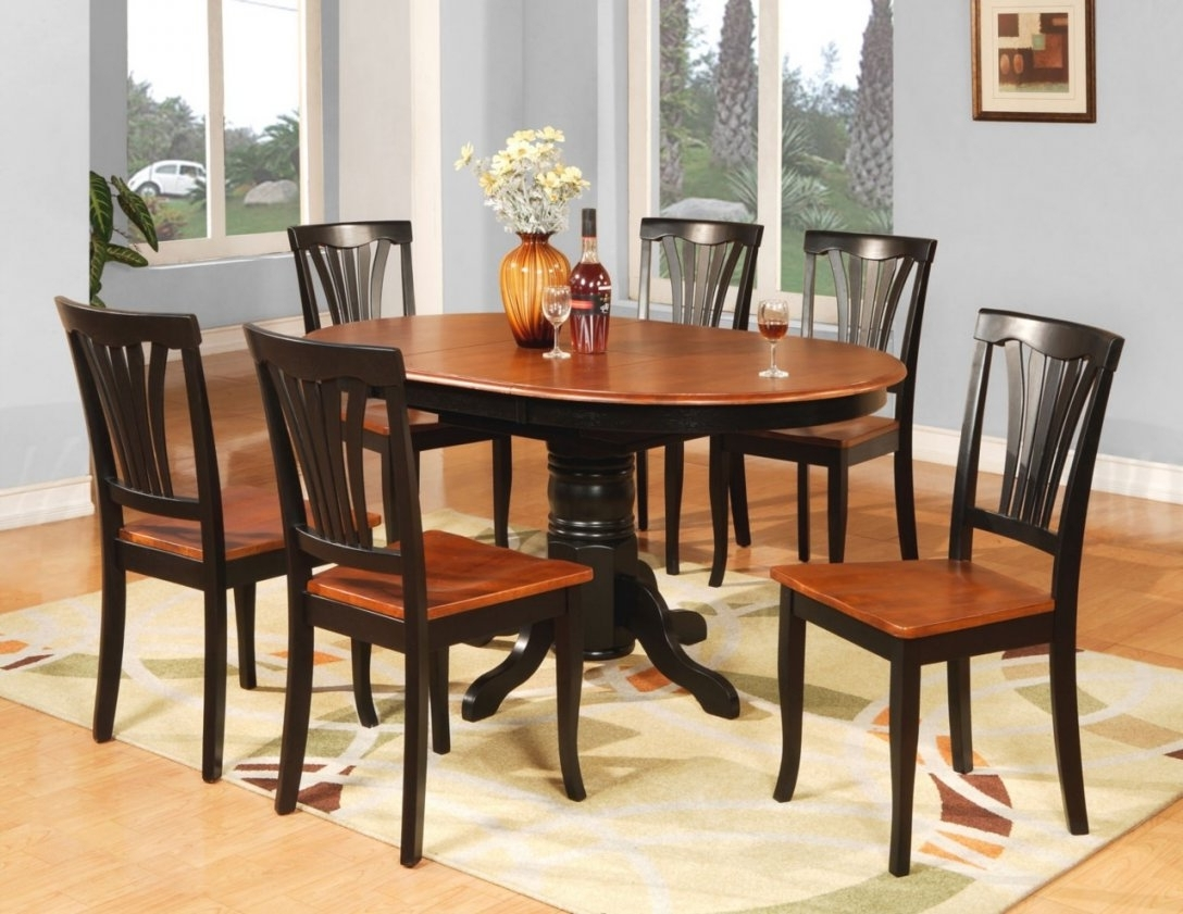 Well Known Dining Chairs Ebay With 7 Pc Oval Dinette Kitchen Dining Room Table 6 Chairs Ebay Danish (View 24 of 25)