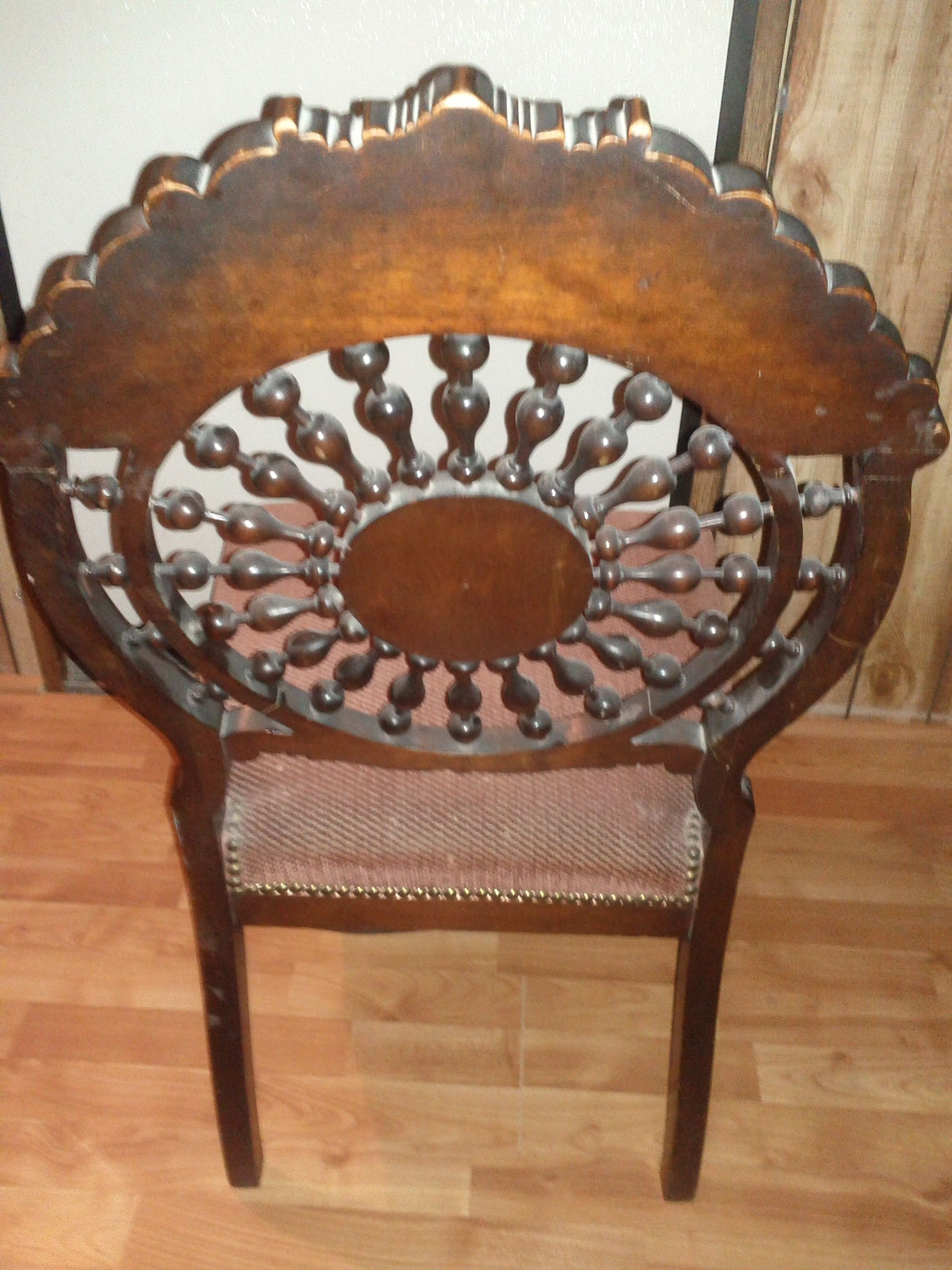 Well Known Dining Chairs Ebay With Antique Side/dining Chair, Need Help To Identify Style Or Maker (View 23 of 25)