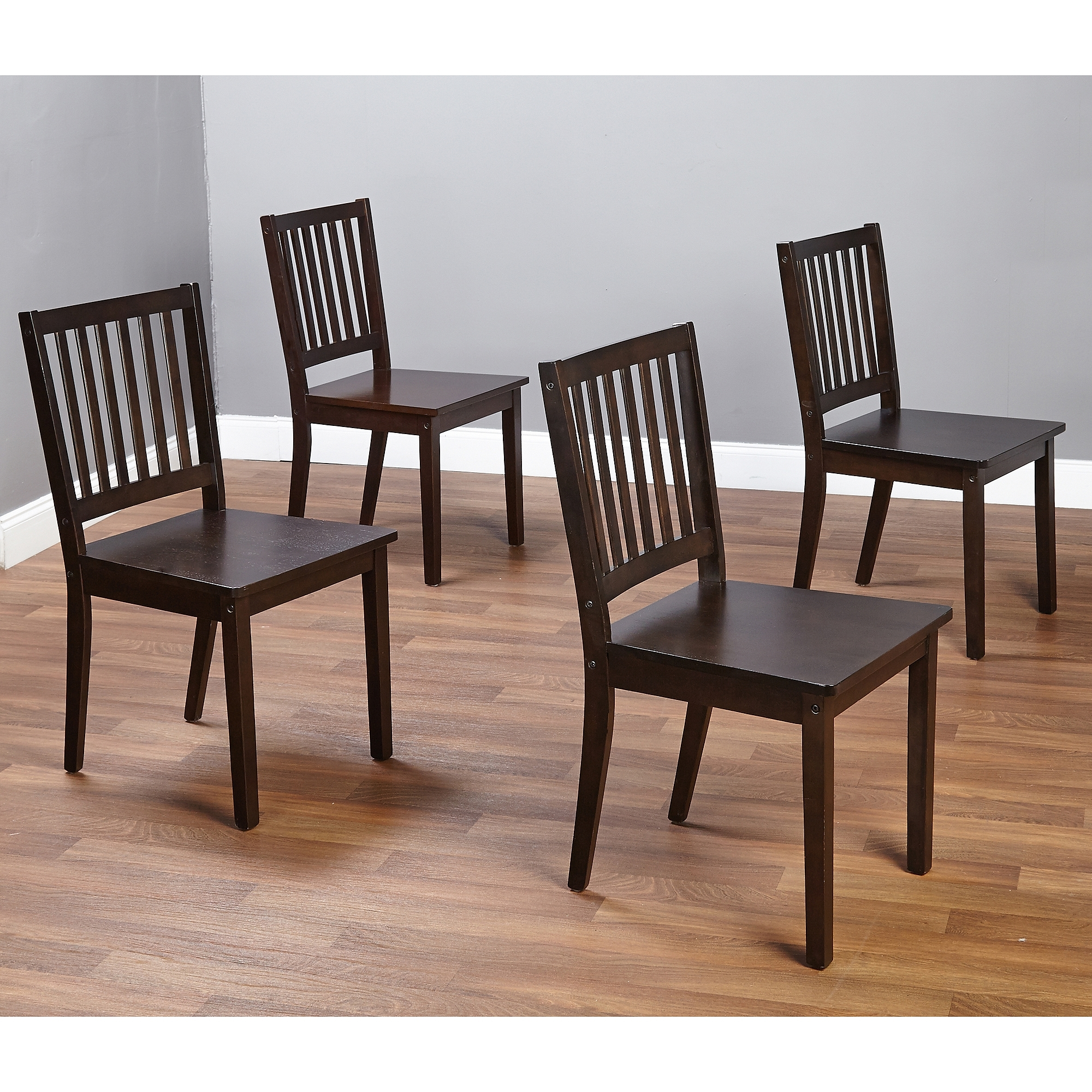 Well Known Dining Chairs For Shaker Dining Chairs, Set Of 4, Espresso – Walmart (View 25 of 25)